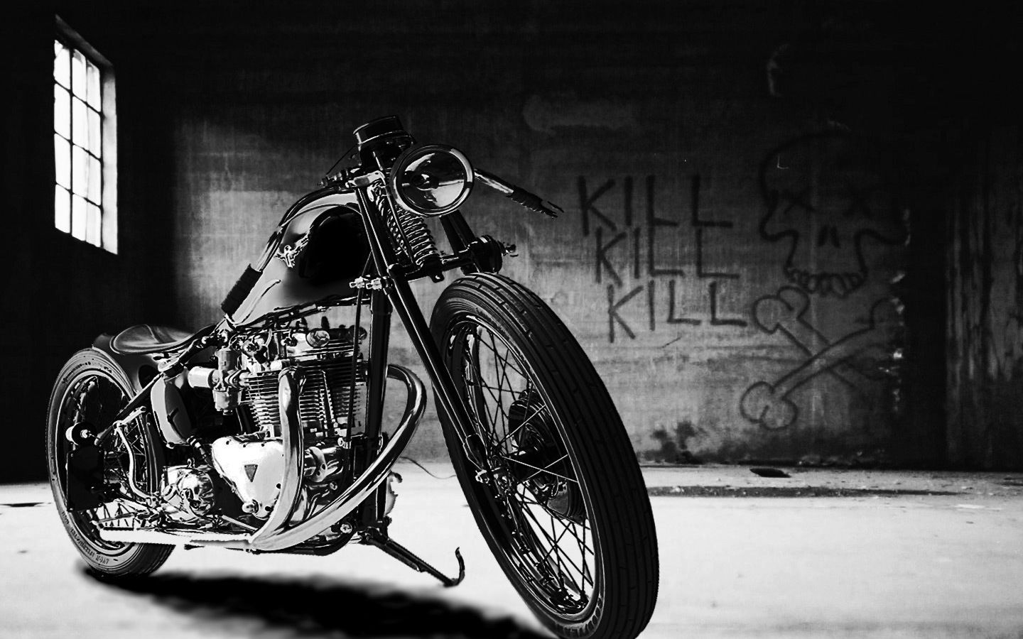 Black And White Motorcycle Photos