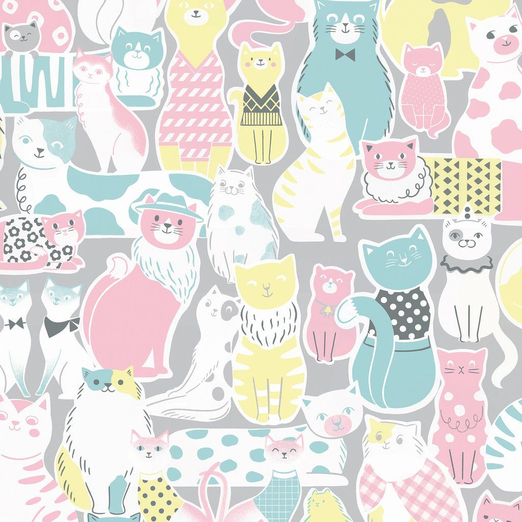 Pastel Cat Wallpapers Top Free Pastel Cat Backgrounds Wallpaperaccess