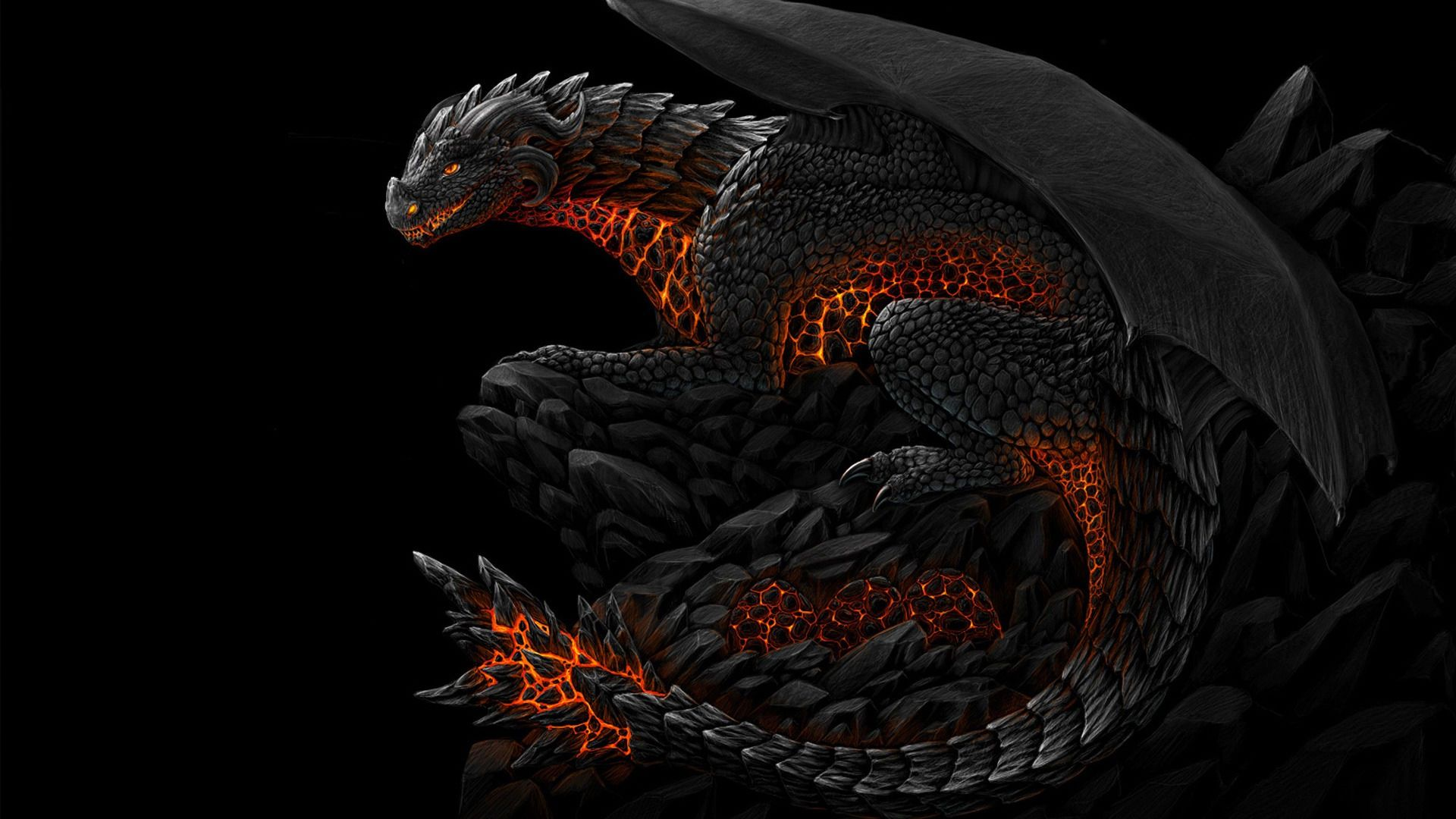 Sillhouette Black Dragon Wallpapers Top Free Sillhouette