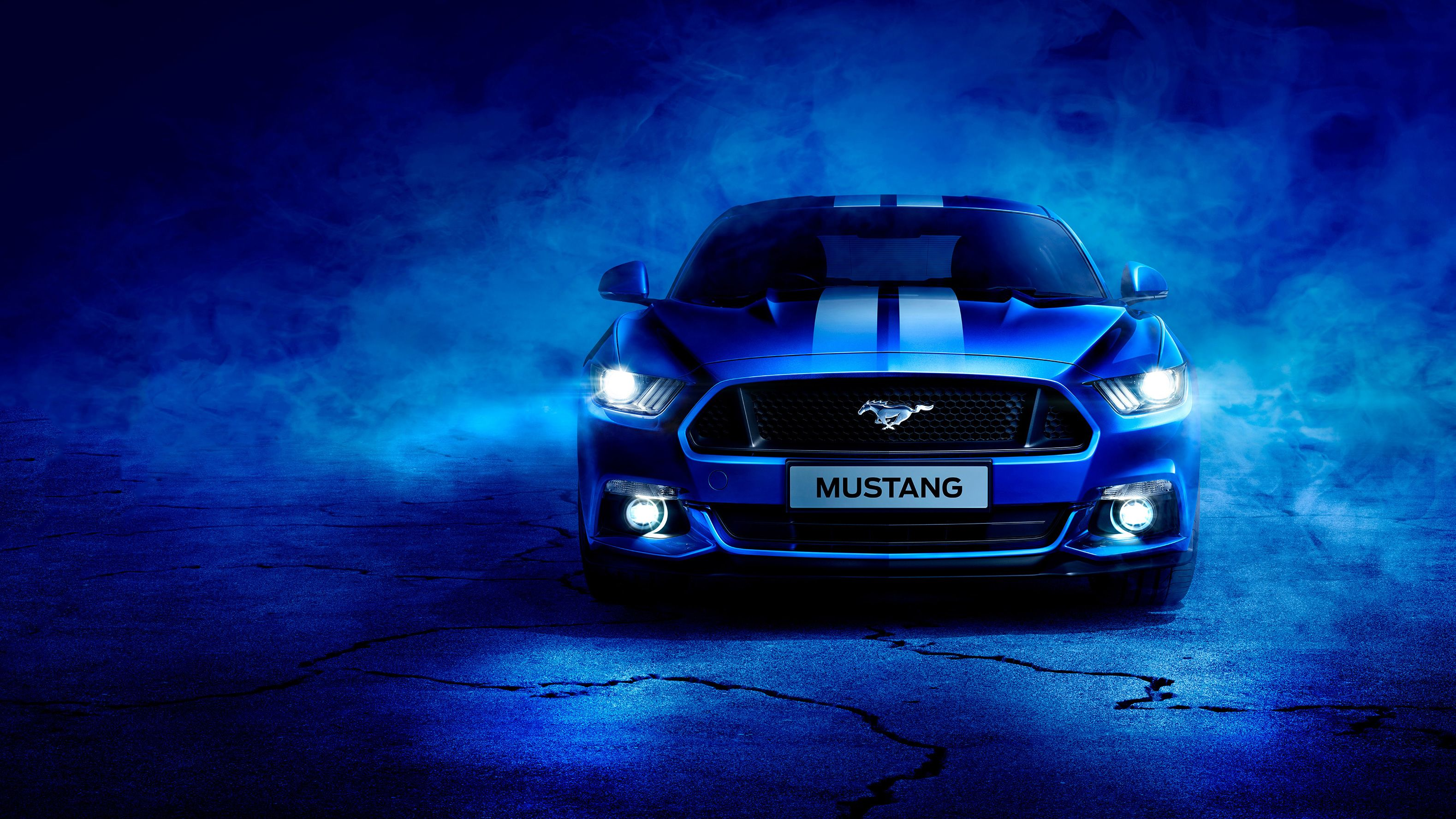 Blue Ford Mustang Wallpapers Top Free Blue Ford Mustang Backgrounds Wallpaperaccess