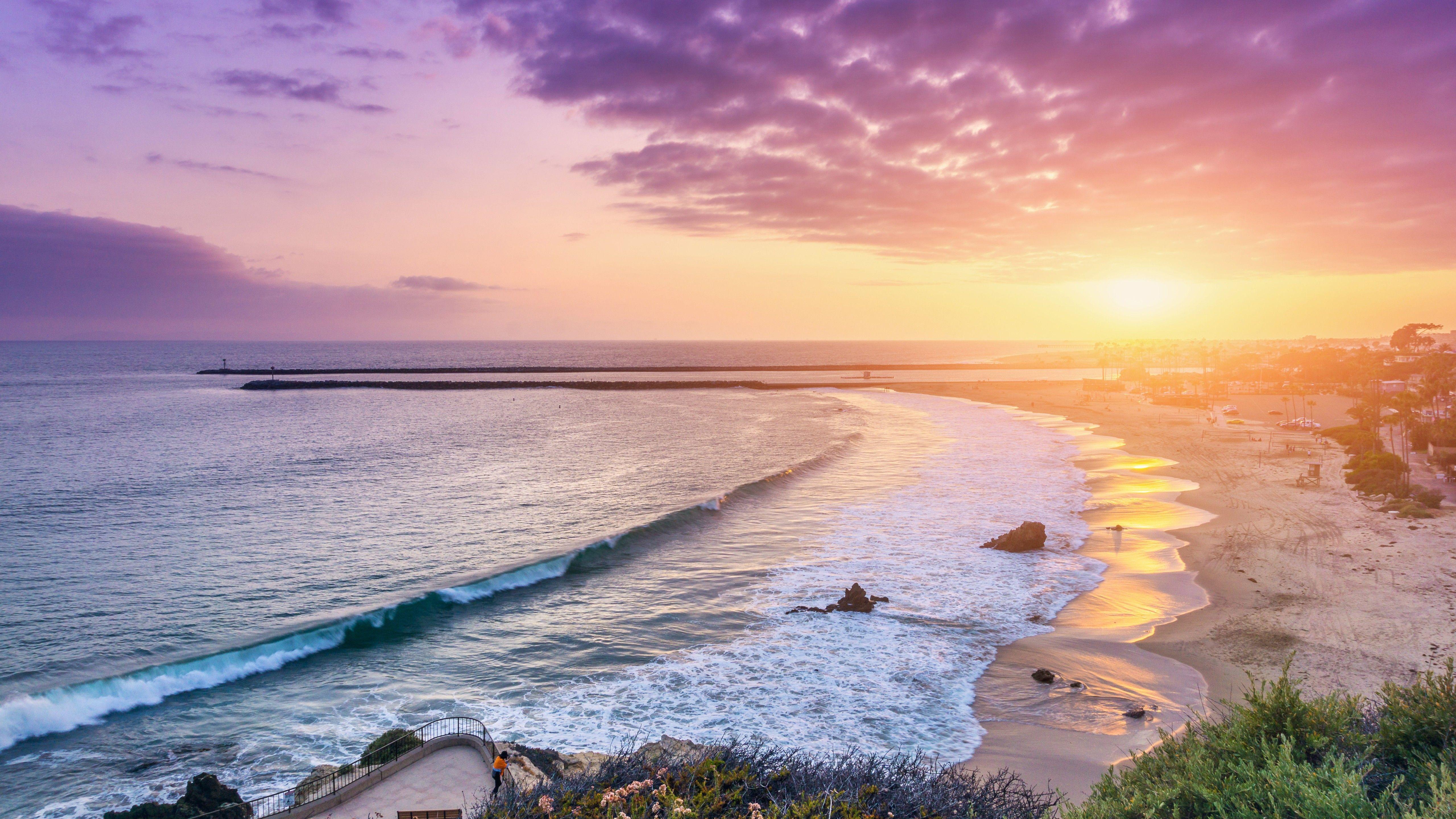 Hình nền bãi biển và đảo 5120x2880