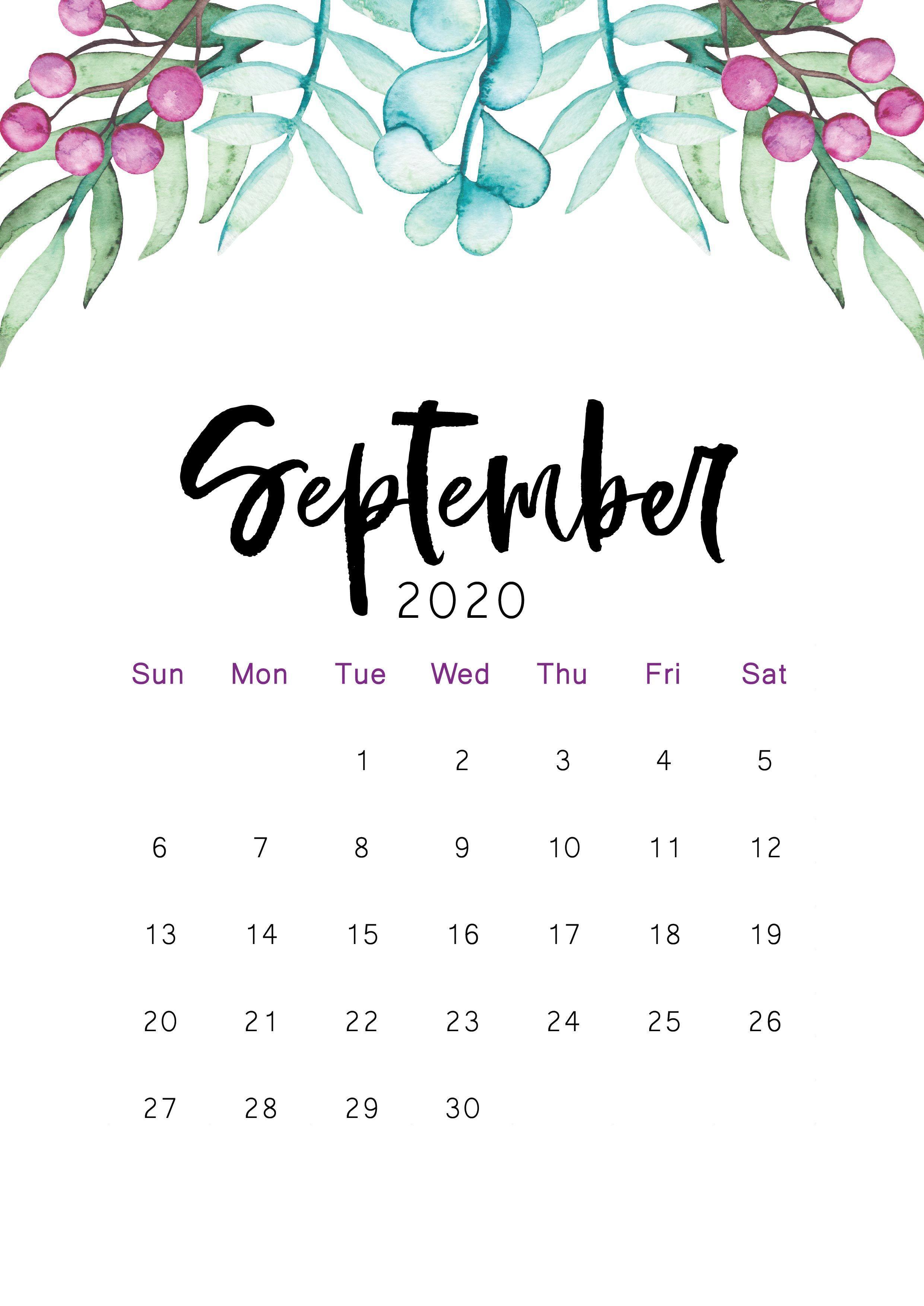 September 2020 Calendar Wallpapers Top Free September 2020 Calendar Backgrounds Wallpaperaccess