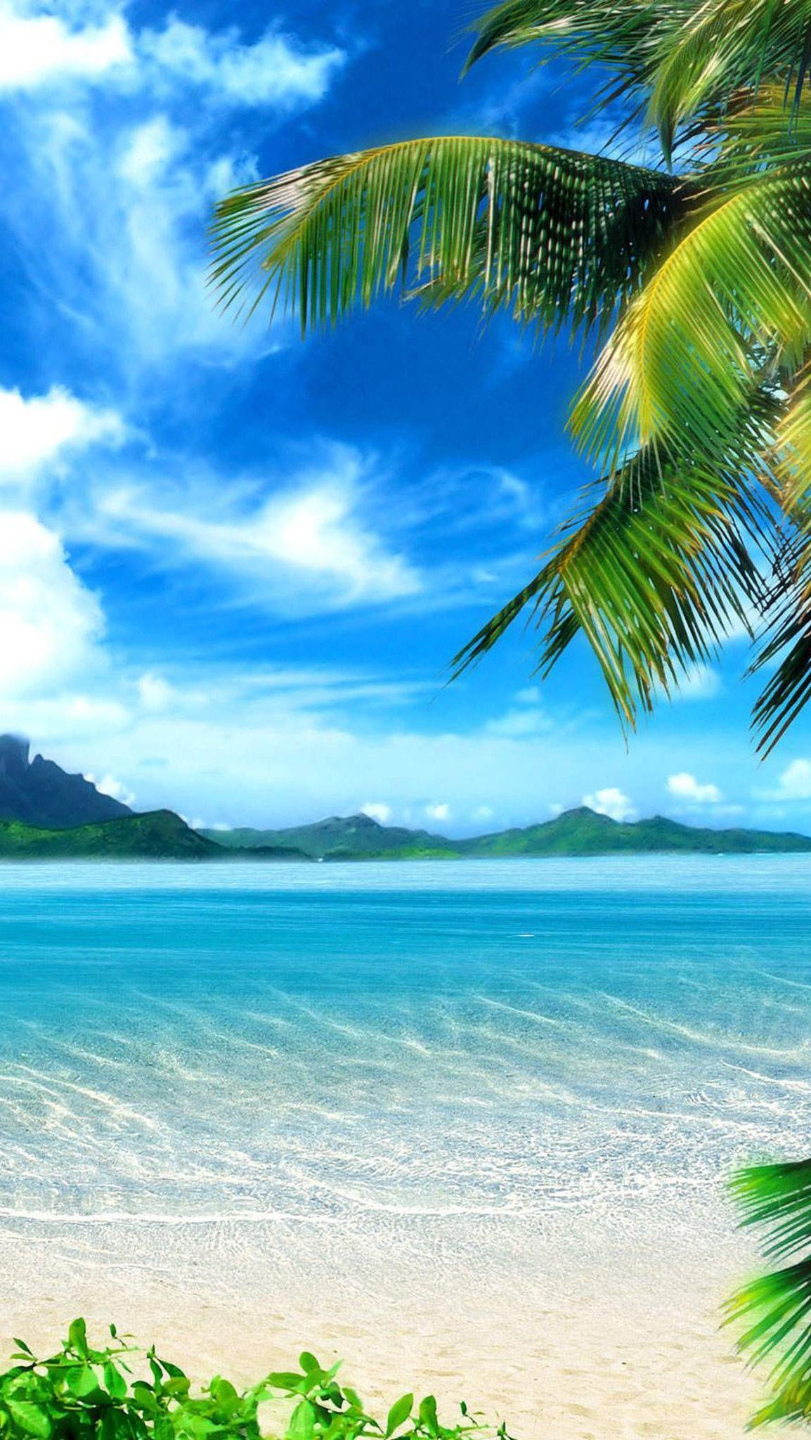 Tropical beach landscape wallpapers top free tropical - Caribbean iphone wallpaper ...