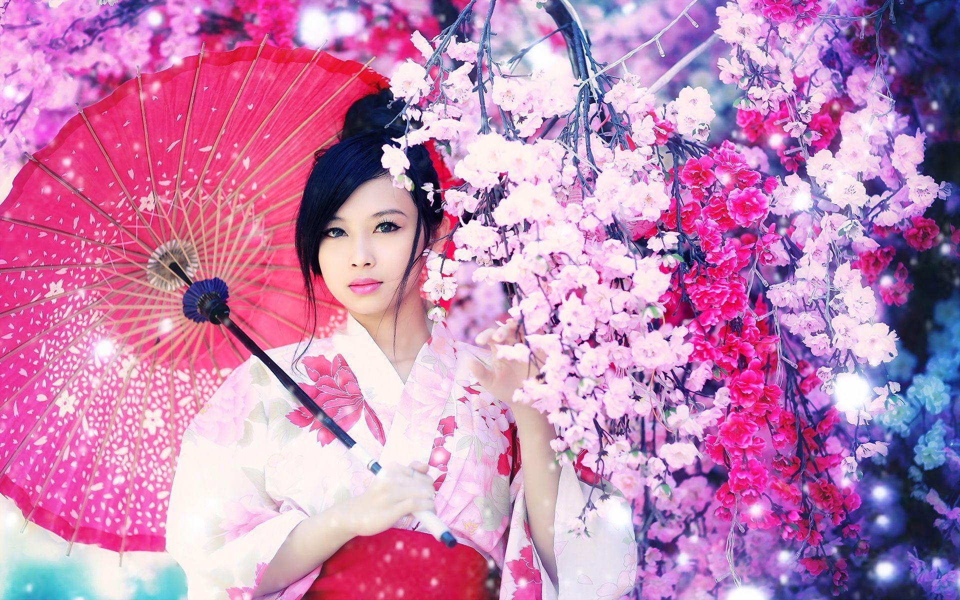 Pair Of Paintings, Asian Geisha Girls, Very Pretty