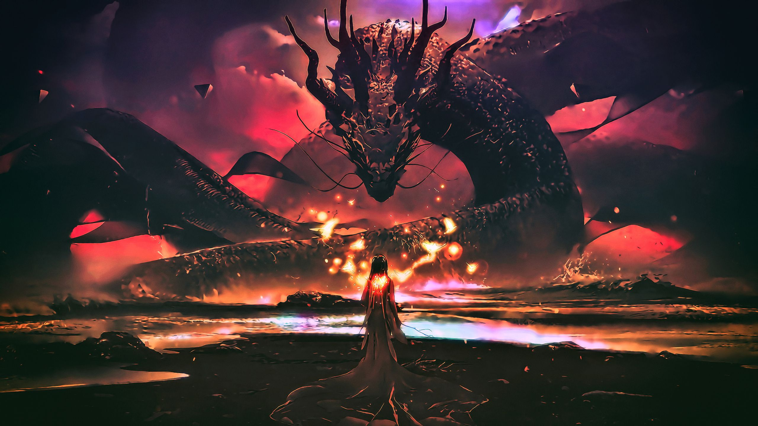 2560x1440 Dragon Wallpapers Top Free 2560x1440 Dragon Backgrounds Wallpaperaccess