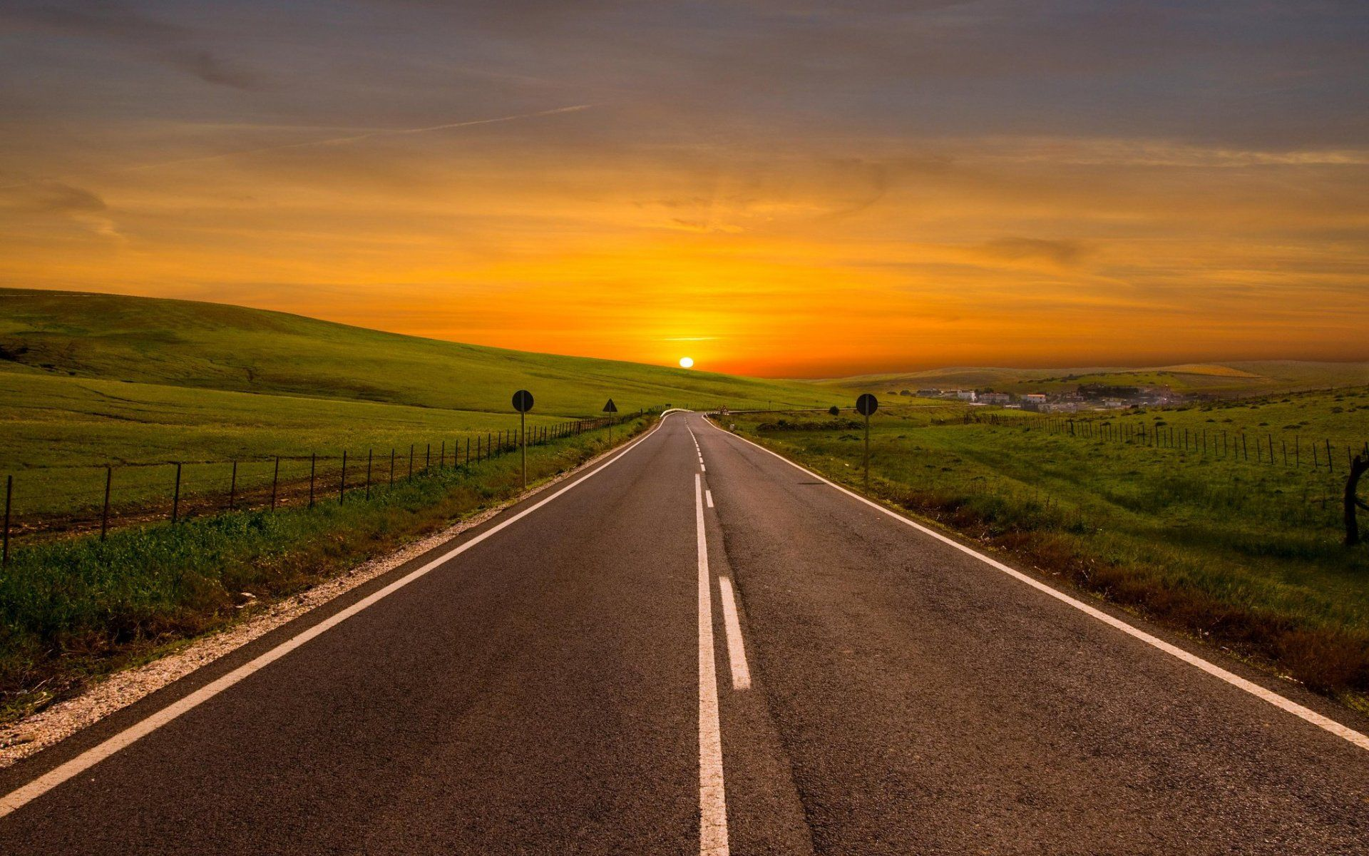Sunset Road Wallpapers Top Free Sunset Road Backgrounds Wallpaperaccess