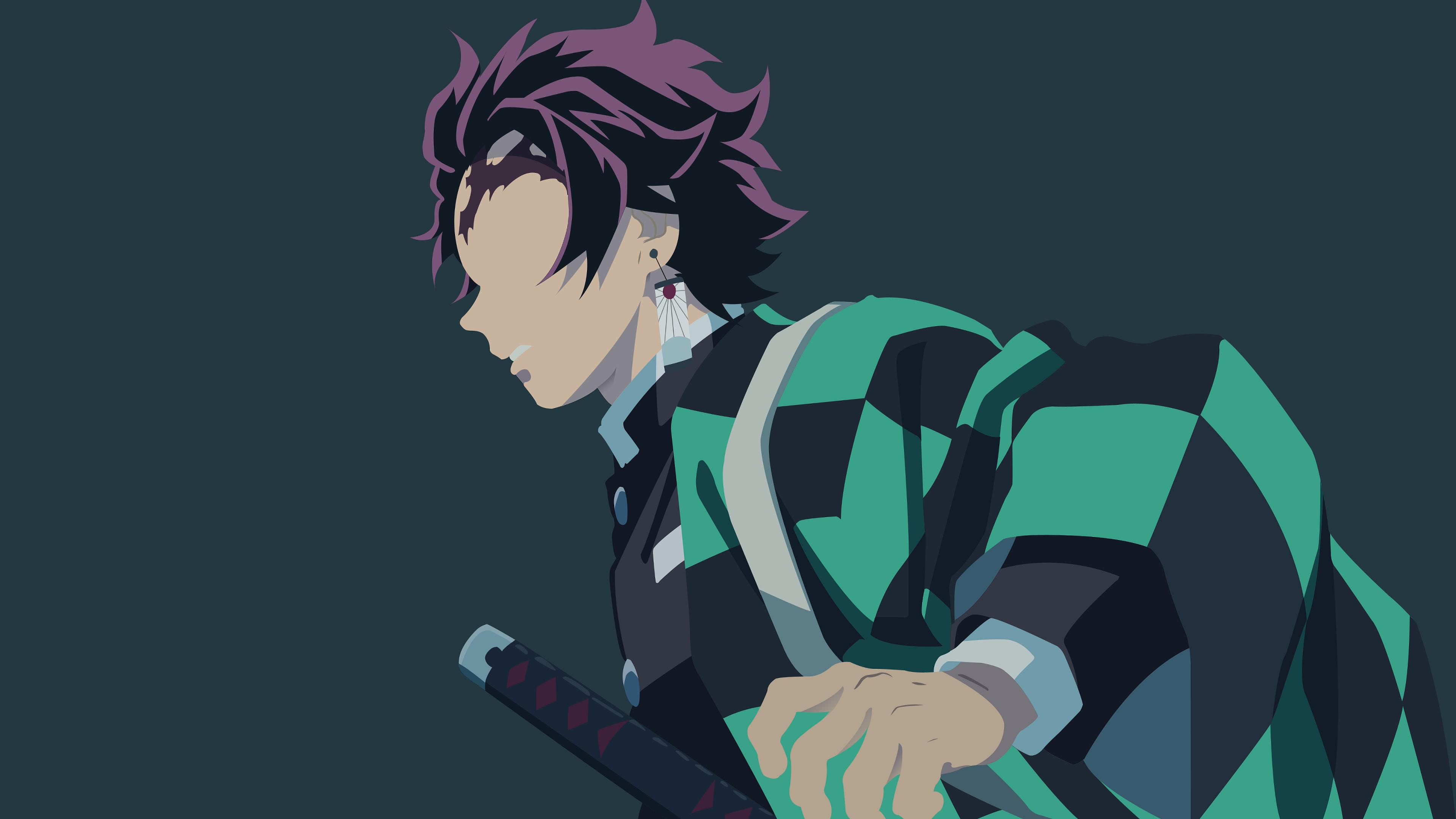Demon Slayer Minimalist Wallpapers Top Free Demon Slayer Minimalist Backgrounds Wallpaperaccess