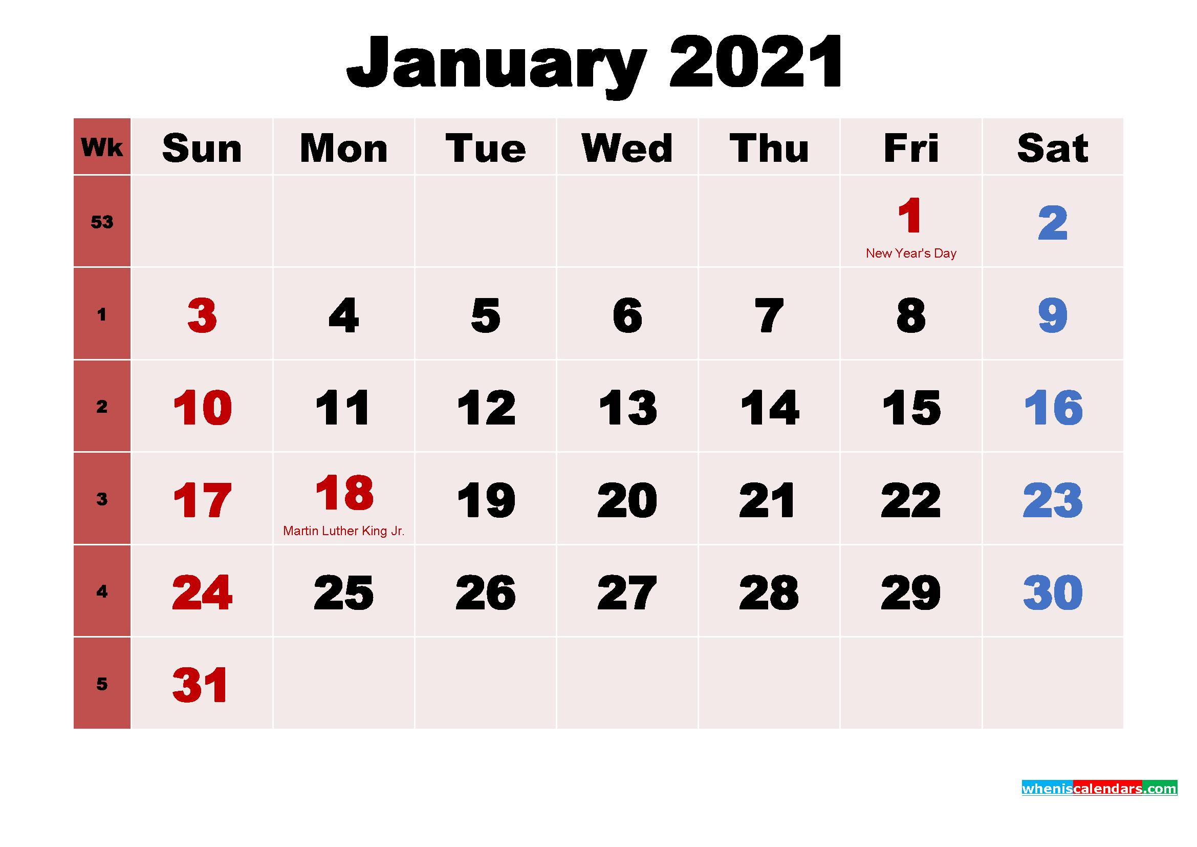 Monthly Calendar Wallpaper 2021 Background