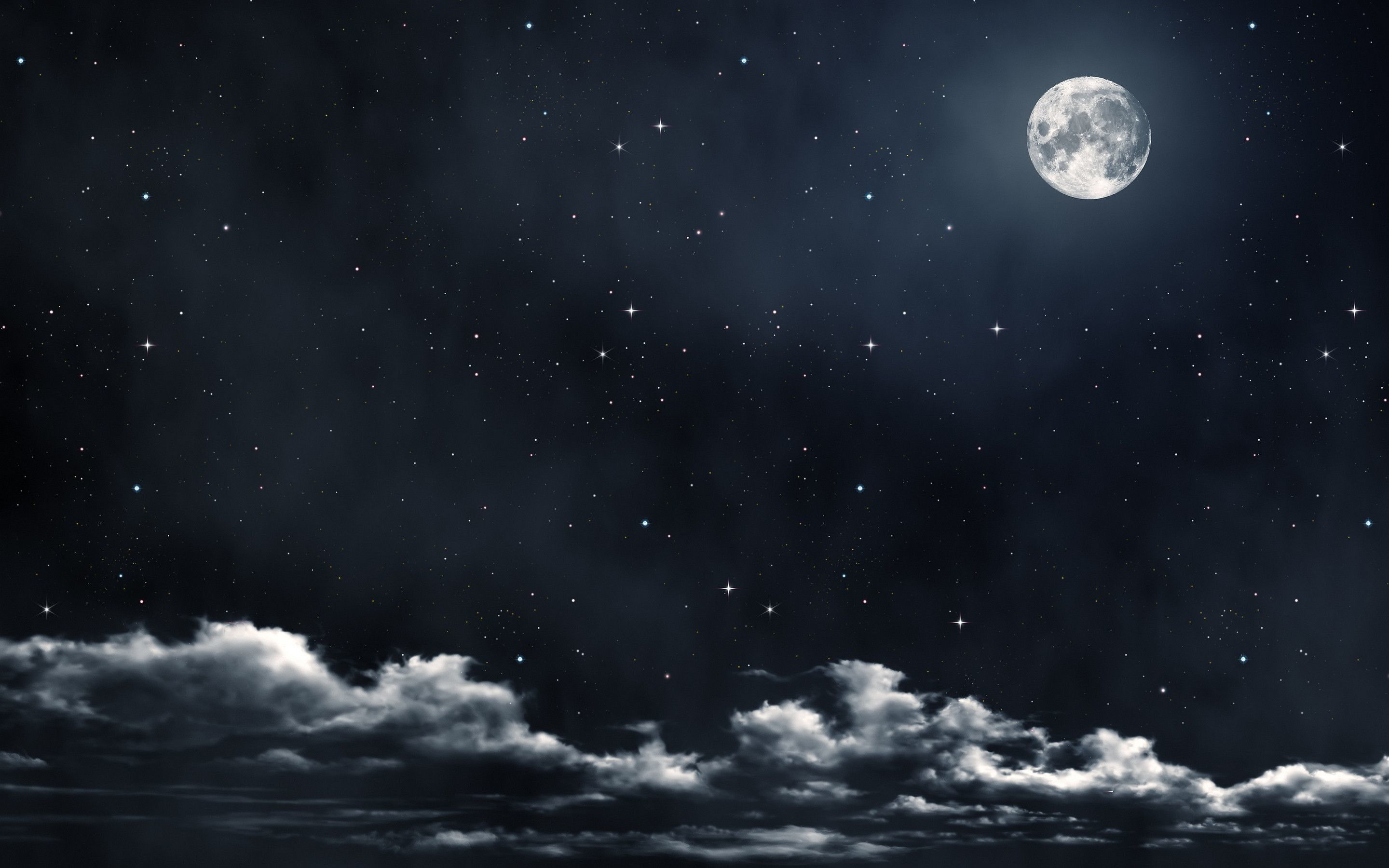 Moon And Stars Wallpapers Top Free Moon And Stars Backgrounds Wallpaperaccess