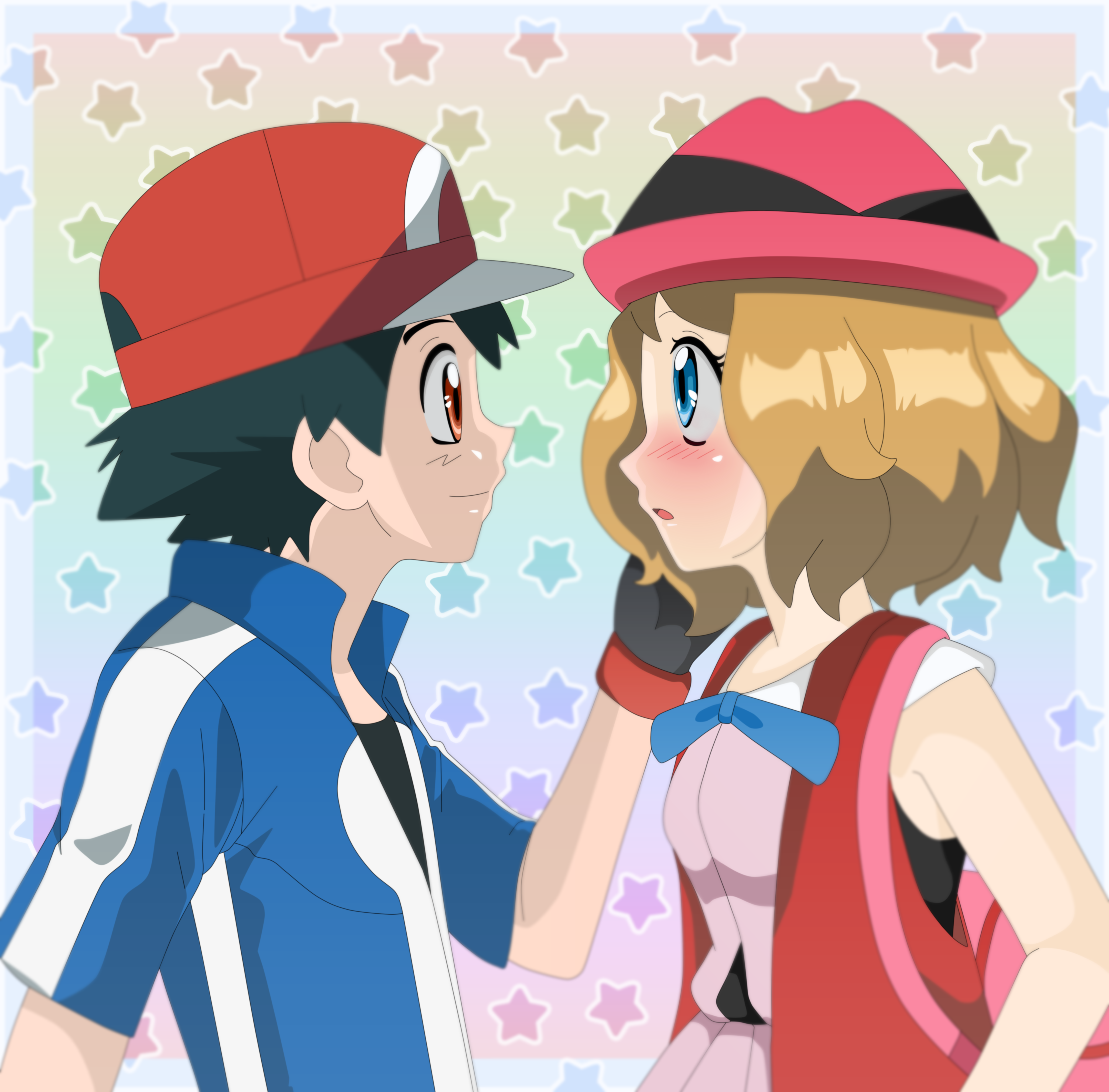 Ash And Serena Wallpapers Top Free Ash And Serena Backgrounds Wallpaperaccess