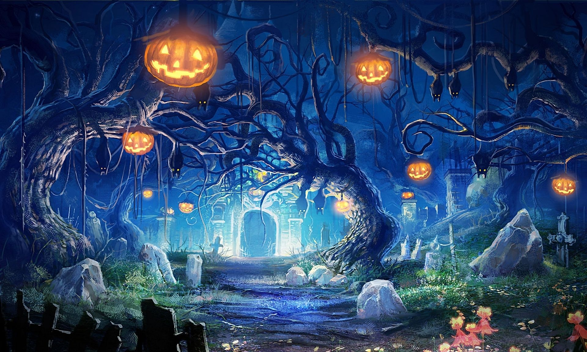 Halloween Landscape Wallpapers , Top Free Halloween