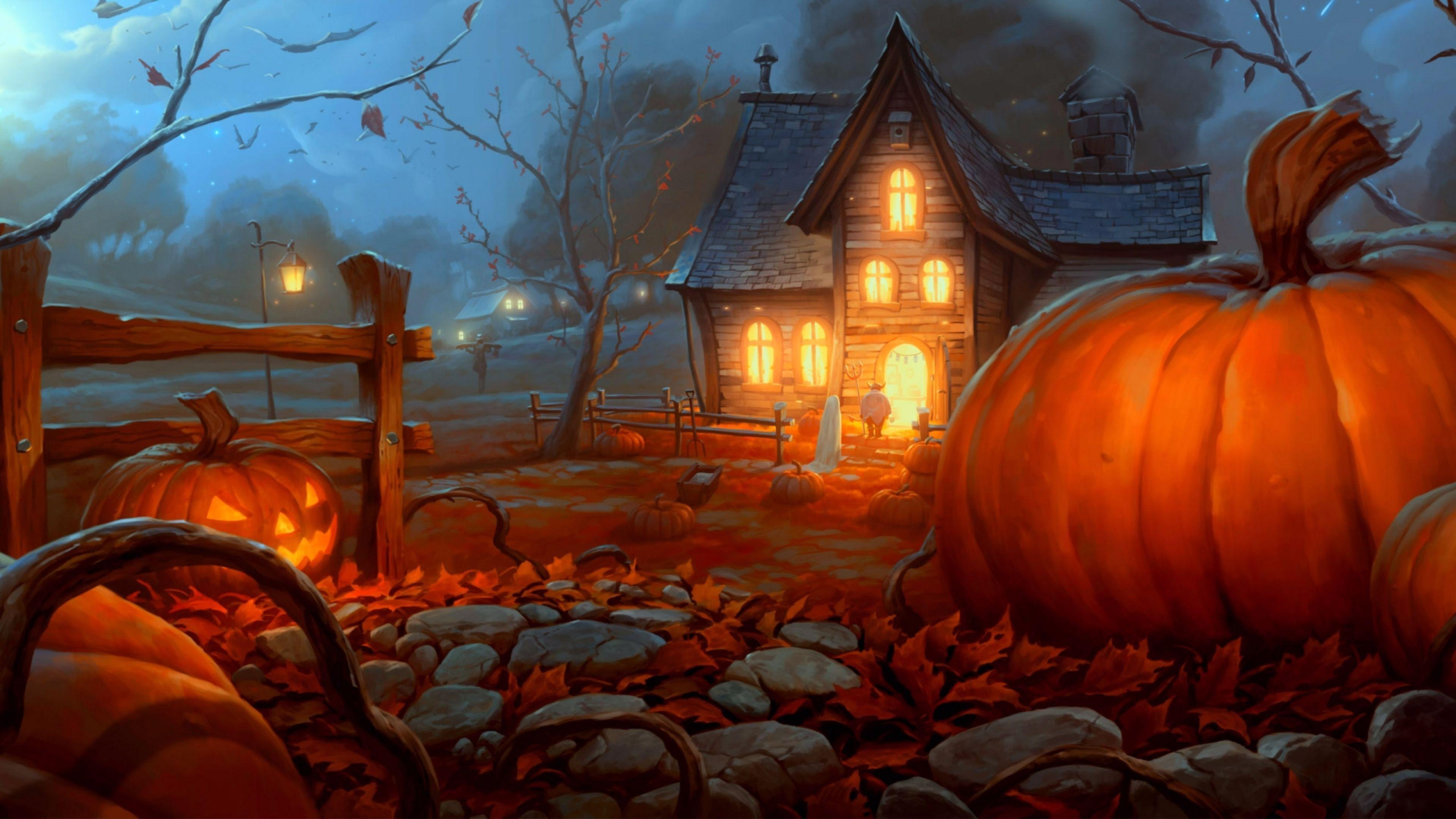 4k Halloween Wallpapers Top Free 4k Halloween Backgrounds