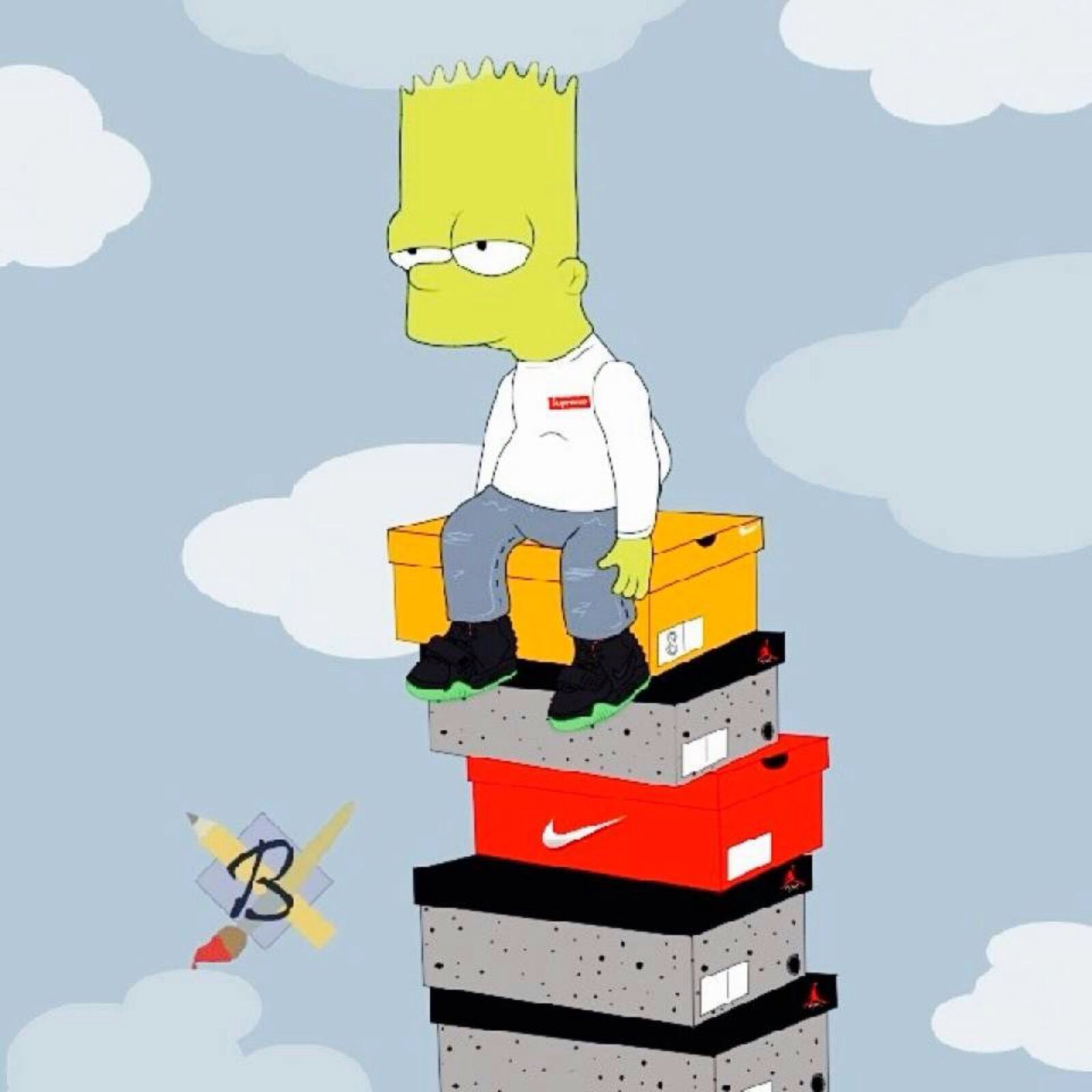 11 Best Free Supreme Bart Wallpapers