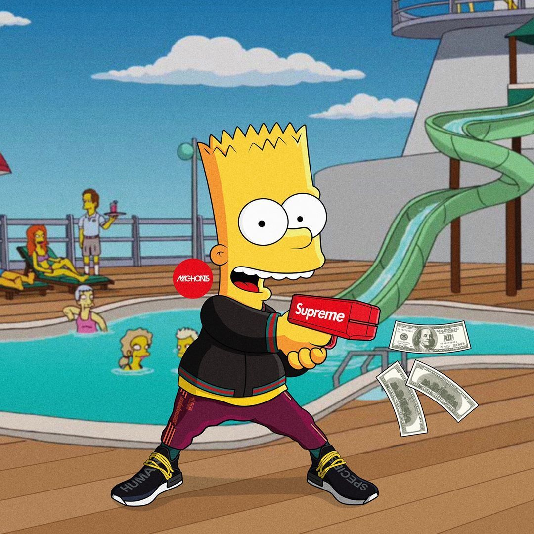 Supreme Bart Simpson Wallpapers Top Free Supreme Bart Simpson