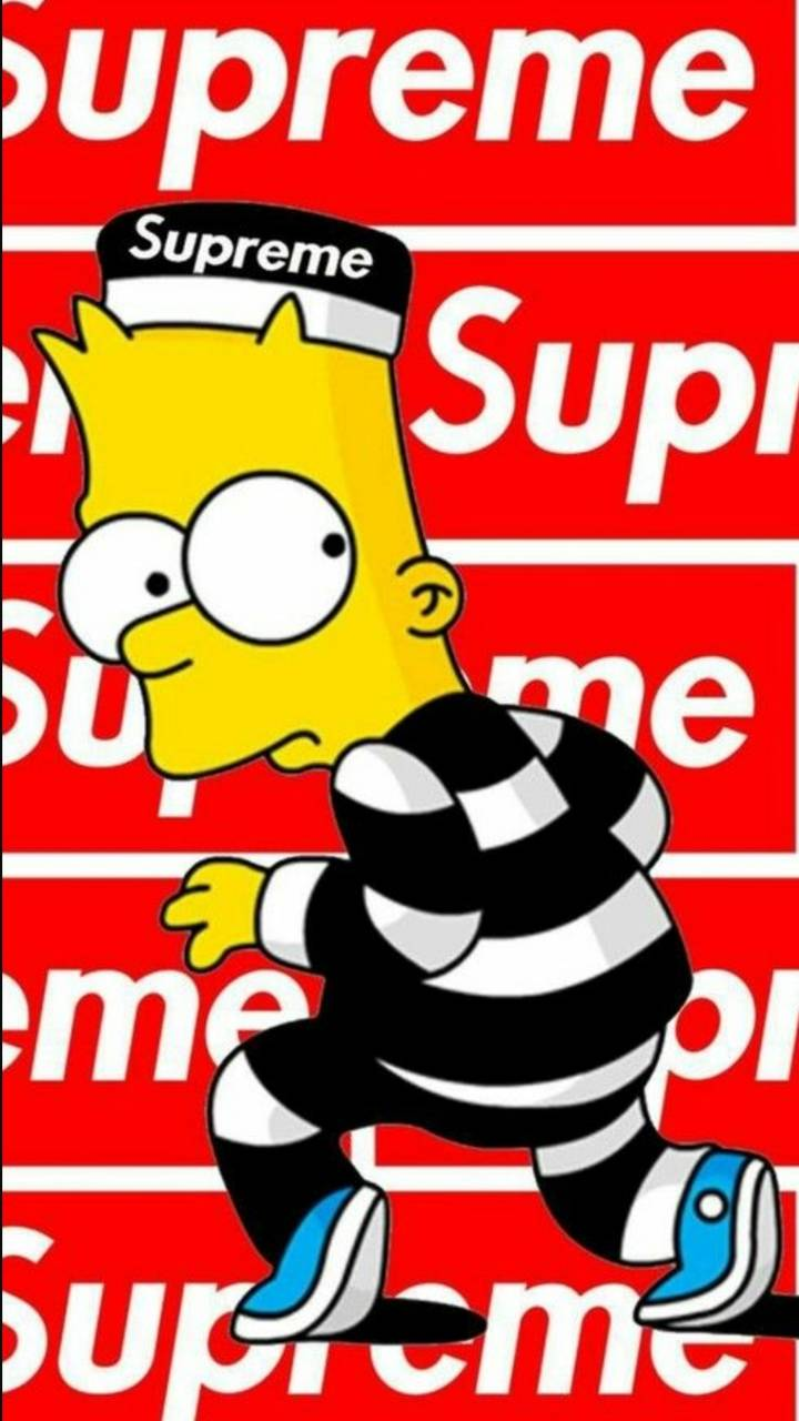 Supreme Bart Simpson Wallpapers Top Free Supreme Bart Simpson