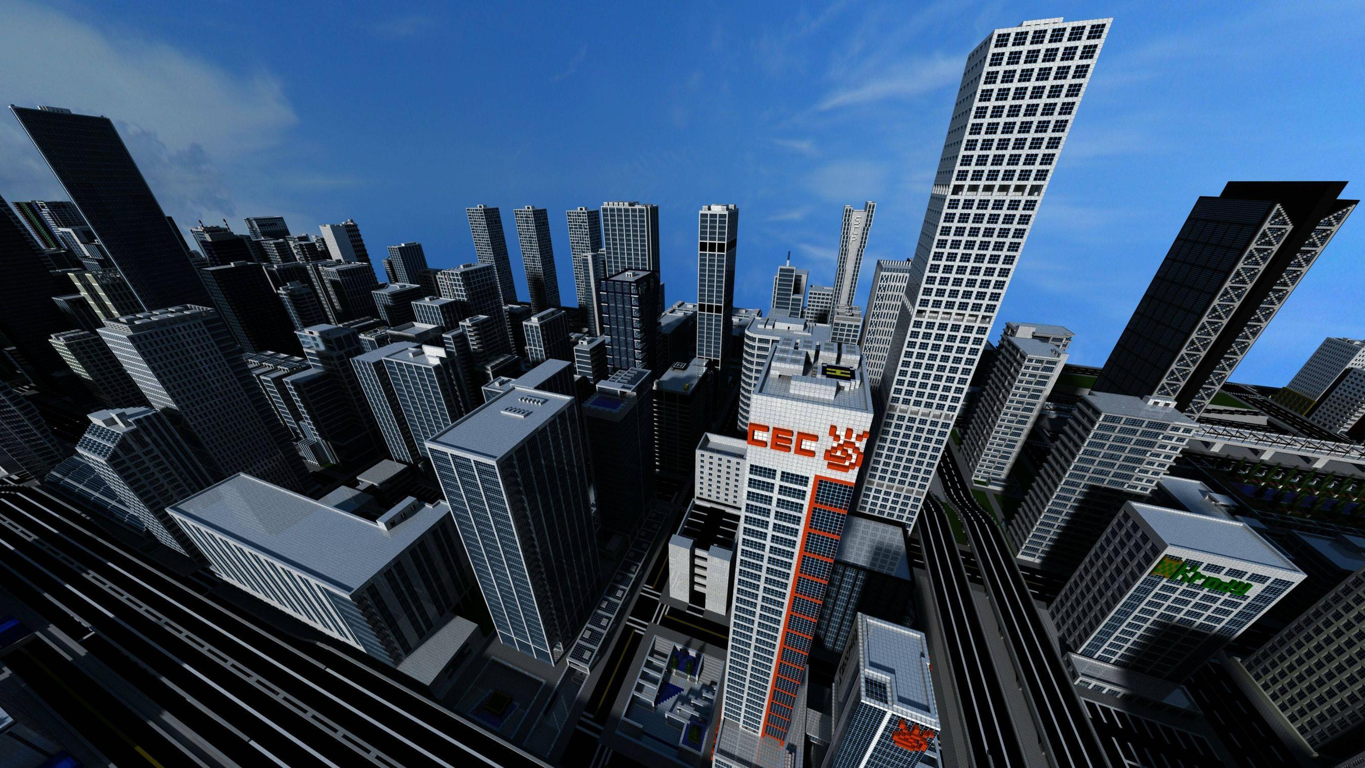 Minecraft City Wallpapers - Top Free Minecraft City