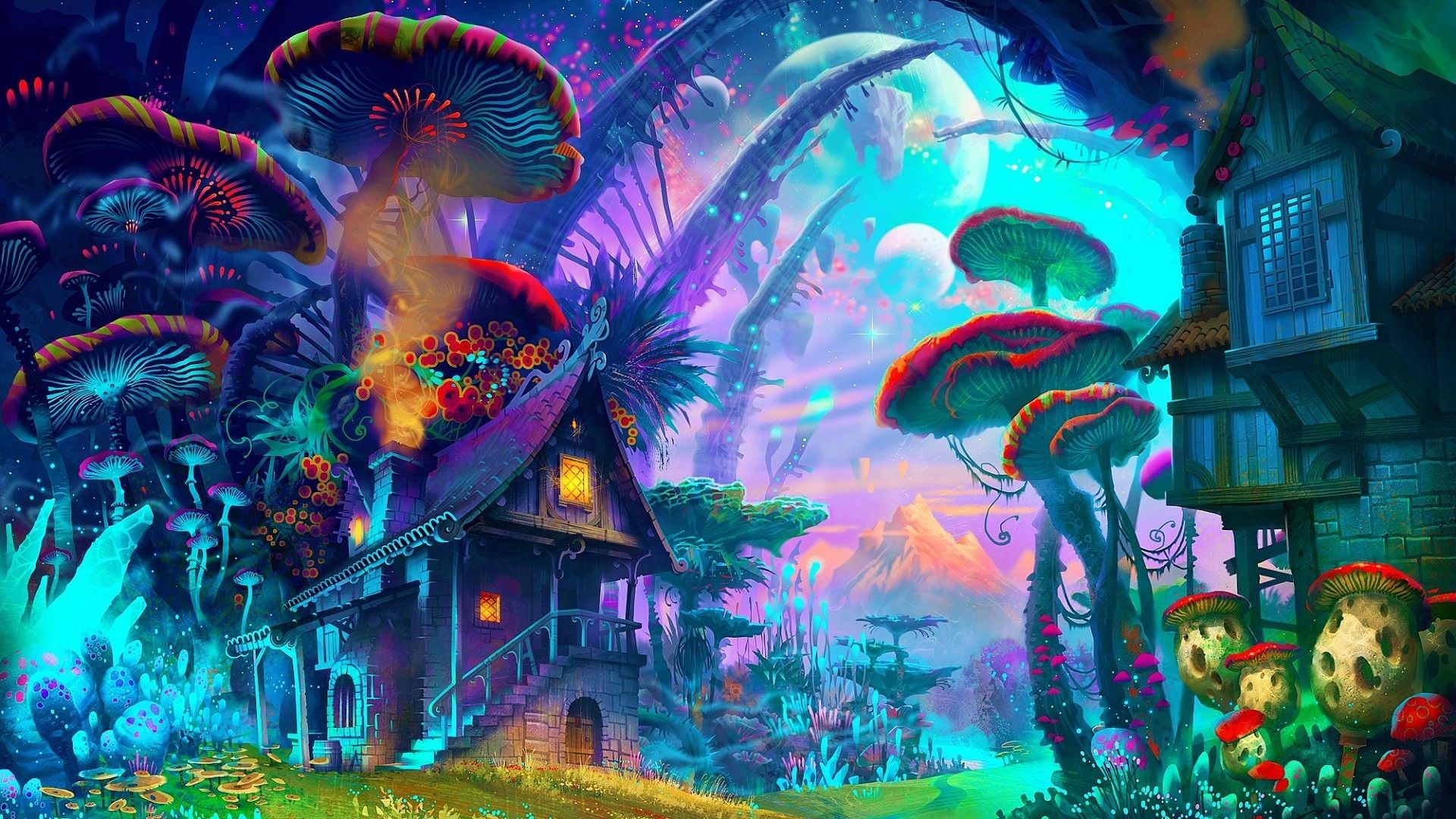 Psychedelic Mushroom Wallpapers Top Free Psychedelic