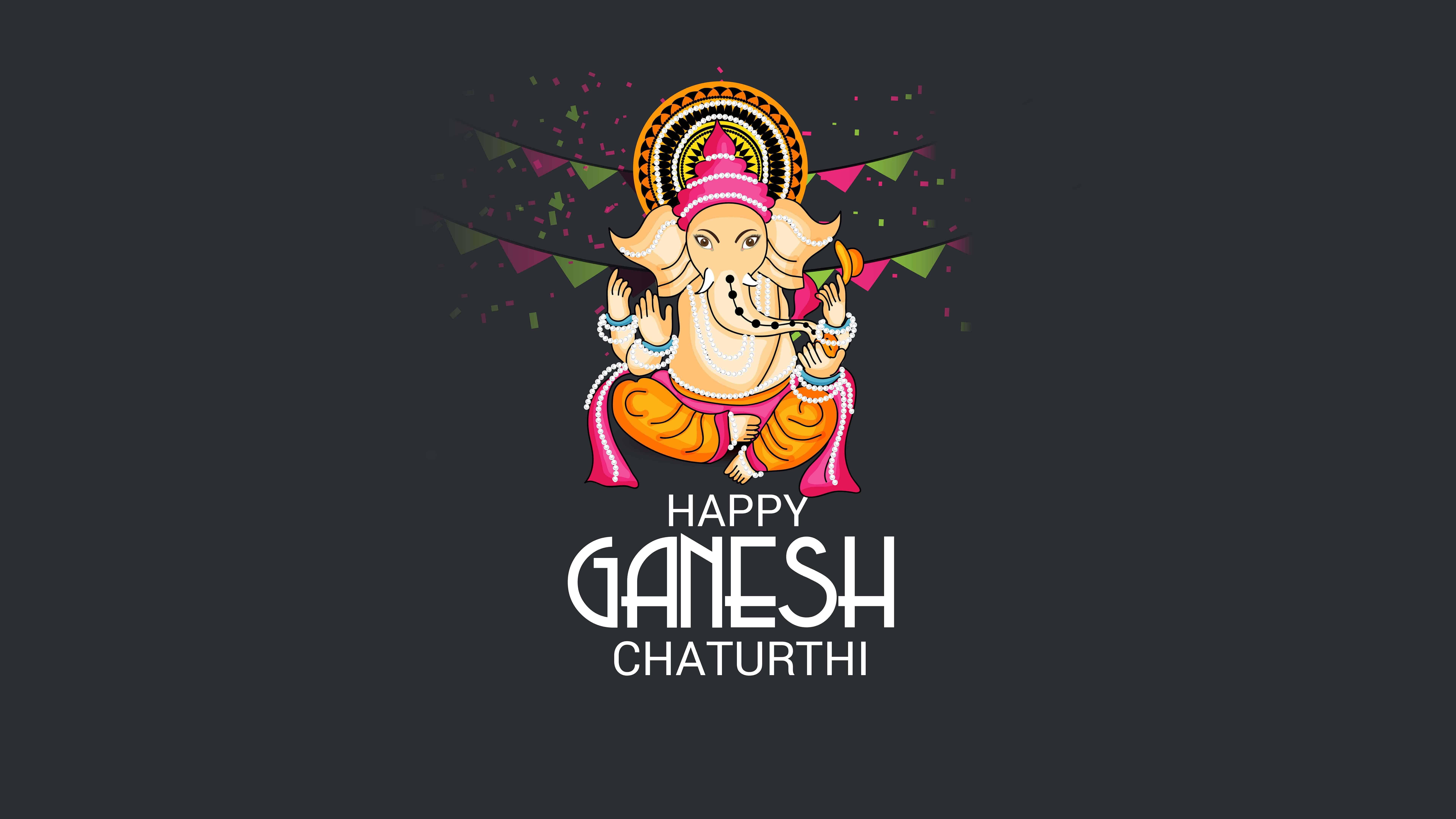 7680x4320 Hình nền Happy Ganesh Chaturthi UHD 8K