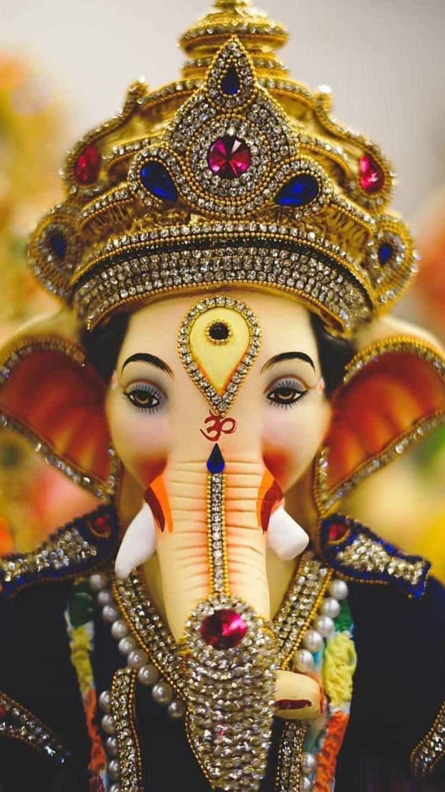 900x1600 Là vị thần của sự khởi đầu, ông được tôn vinh khi bắt đầu các nghi thức và nghi lễ # Mới_Năm_2020 # Mới_Năm.  Ganesh hình ảnh, Ganpati bappa hình nền, Ganesh hình nền