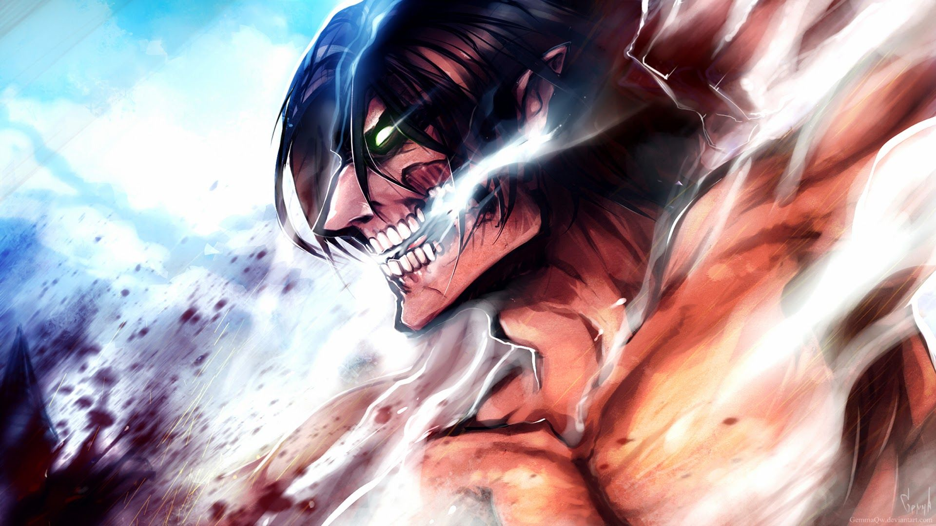 Attack On Titan Titan Eren Wallpapers Top Free Attack On Titan Titan Eren Backgrounds Wallpaperaccess