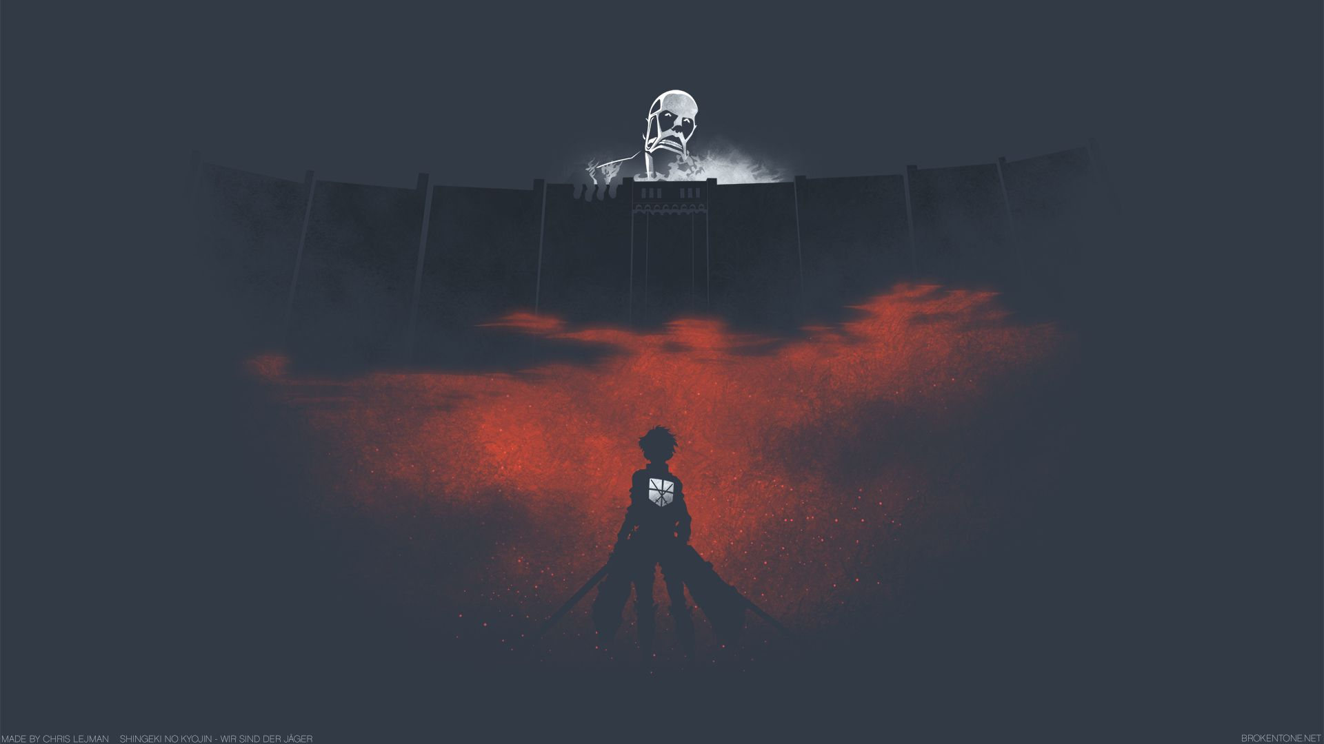 Minimalist Attack On Titan Wallpaper 1920x1080