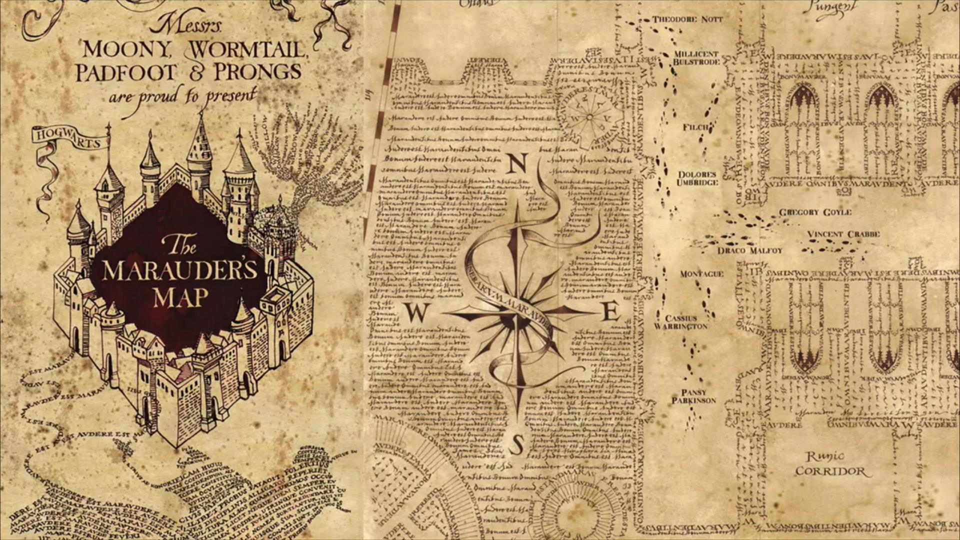 Marauder S Map Harry Potter Wallpapers Top Free Marauder S Map