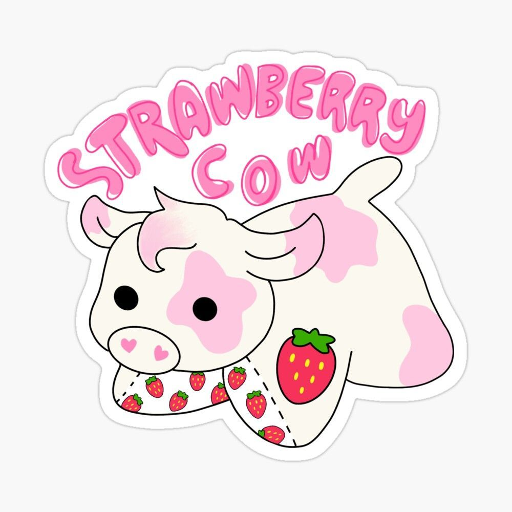 Strawberry Cow Wallpapers Top Free Strawberry Cow Backgrounds Wallpaperaccess