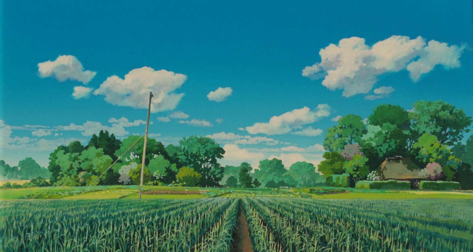 Studio Ghibli Scenery Wallpapers Top Free Studio Ghibli Scenery Backgrounds Wallpaperaccess