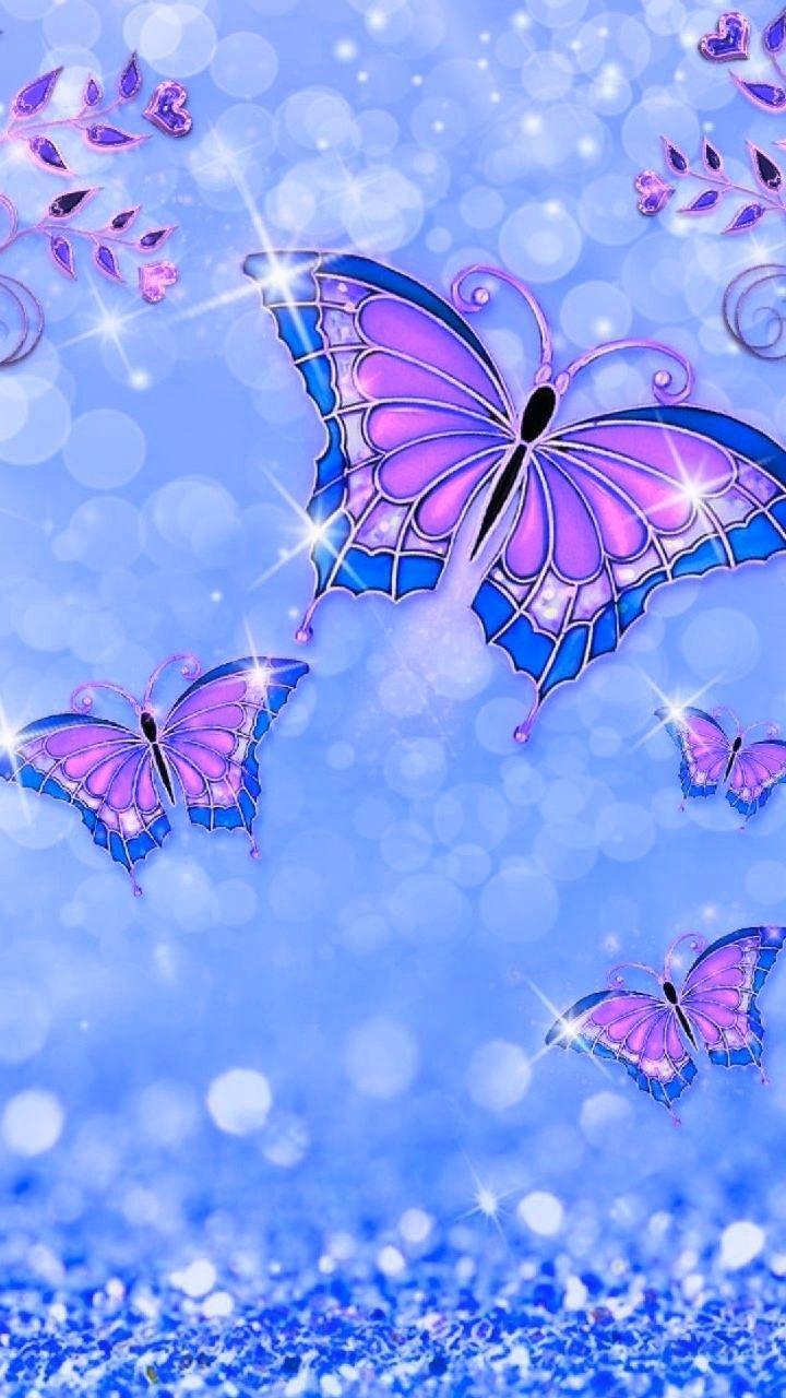 Hình nền 720x1280. Nghệ sĩ không xác định.  Hình nền bướm, Hình nền bướm iPhone, Hình nền lấp lánh