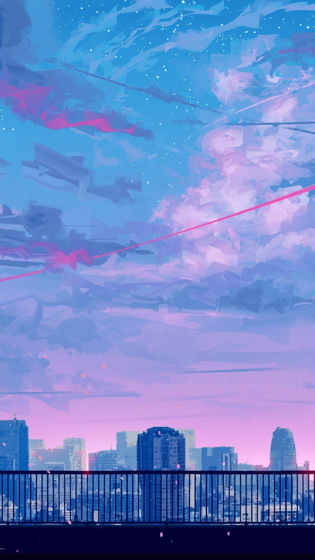 1080x1920 Aesthetic Pink And Blue Background Picture in 2020. Hình nền phong cảnh, Hình nền thẩm mỹ, Hình nền phong cảnh Anime