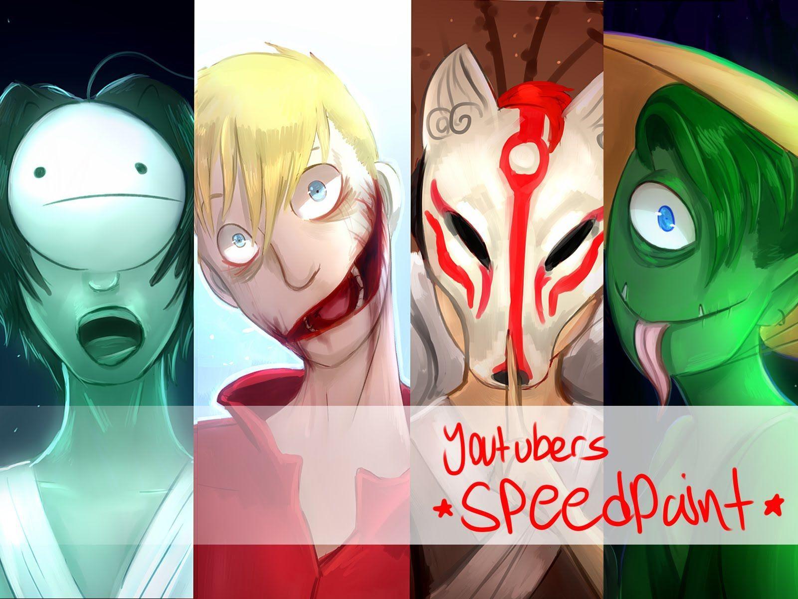 1600x1200 Youtubers speedpaint: الرعب الياباني [الجزء 1]