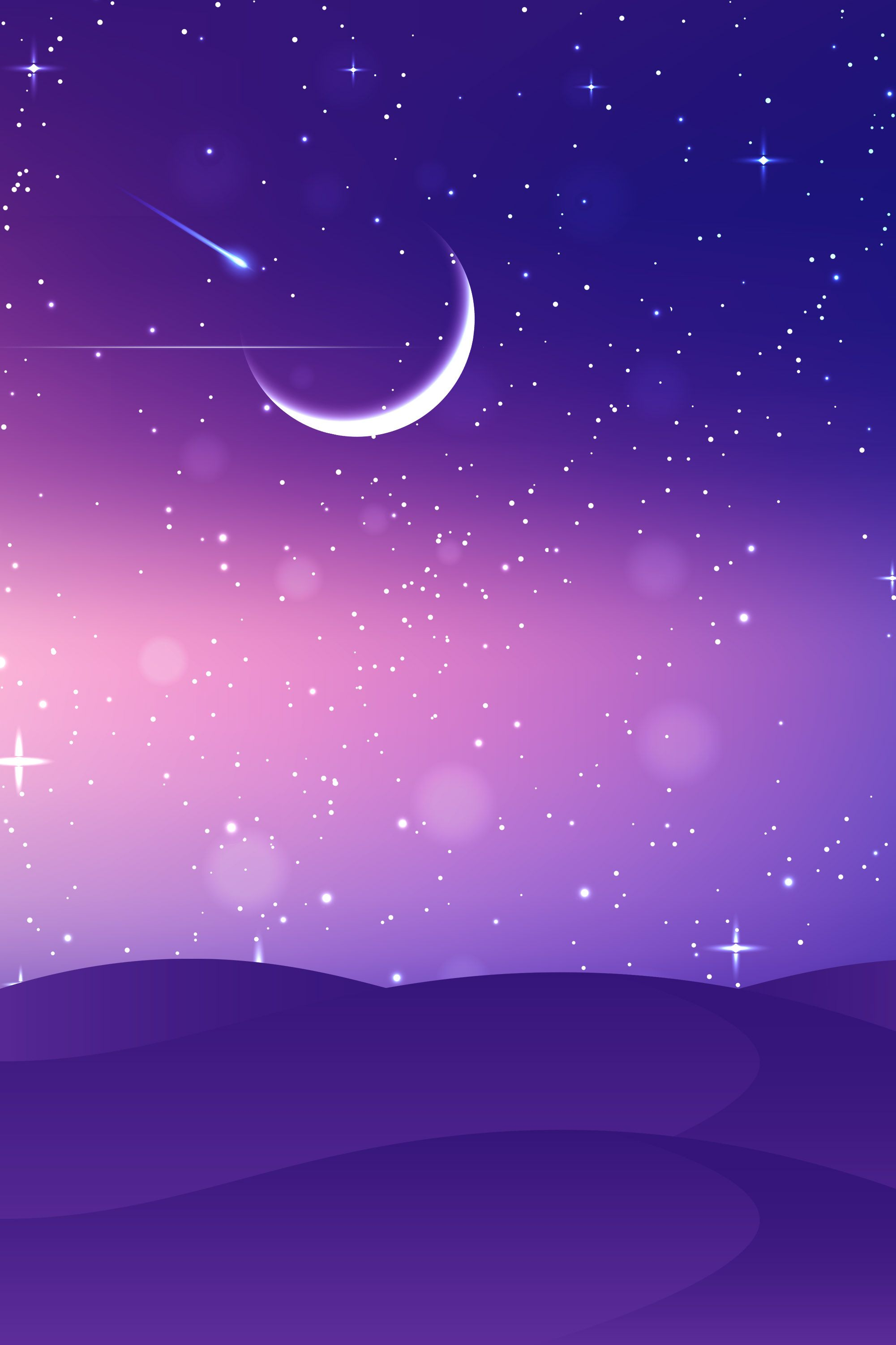 Purple Moon and Stars Wallpapers   Top Free Purple Moon and Stars ...