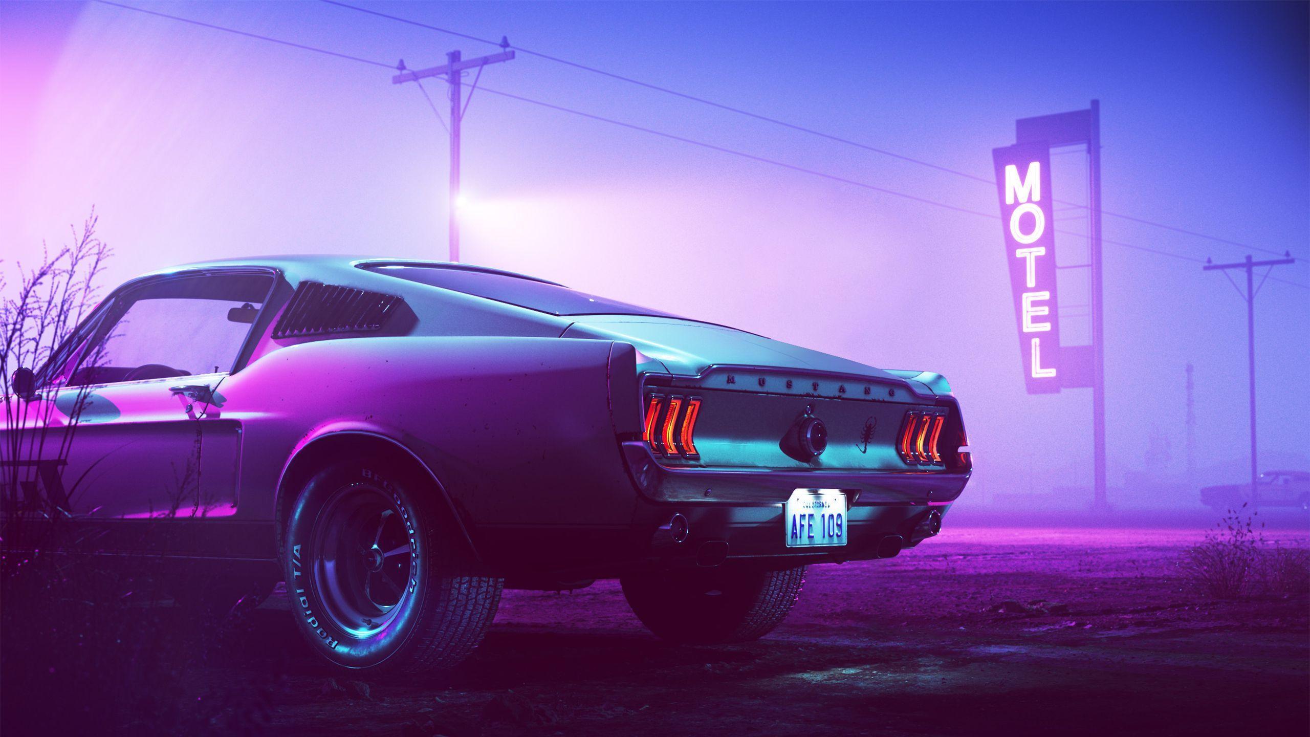 Neon Mustang Wallpapers Top Free Neon Mustang Backgrounds Wallpaperaccess