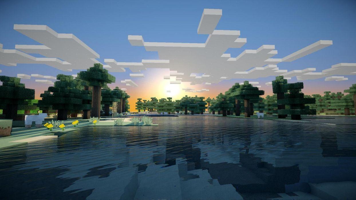 1244x700 Sunrise Minecraft wallpaper | 1920x1080 | 259680 | WallpaperUP