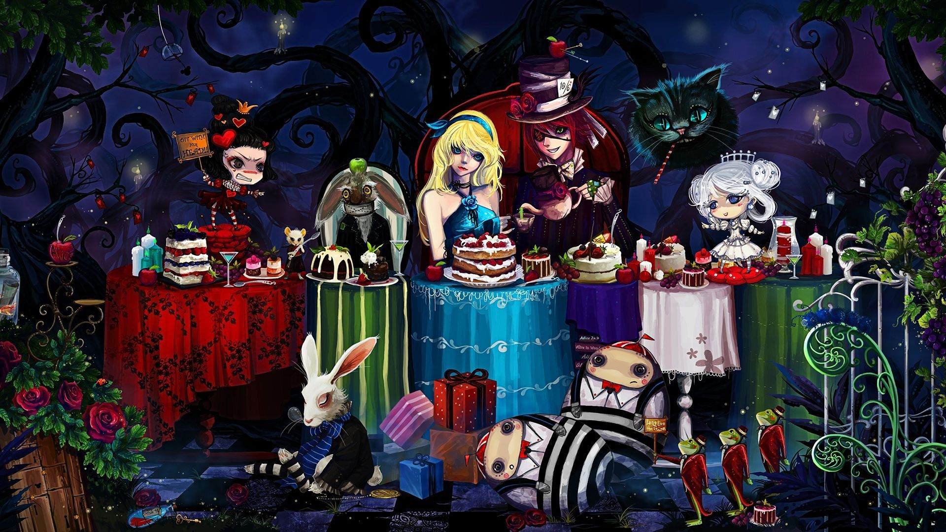 Gothic Alice In Wonderland Wallpapers Top Free Gothic Alice In
