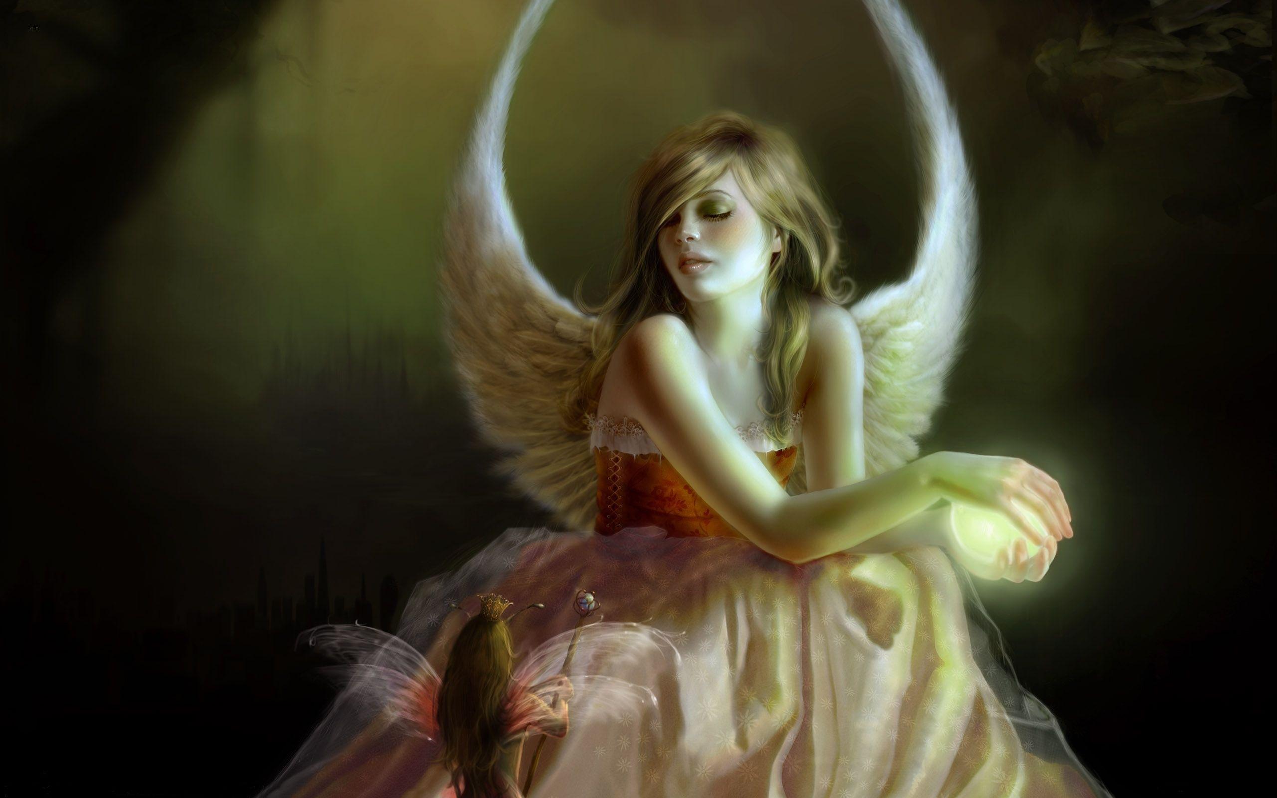 Fantastic Angels and Fairies Wallpaper