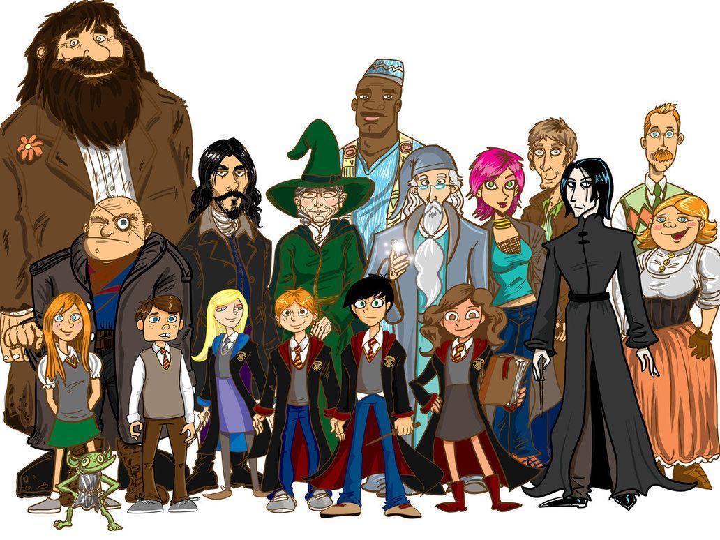 окрашивание гарри поттер персонажи картинки имеют
