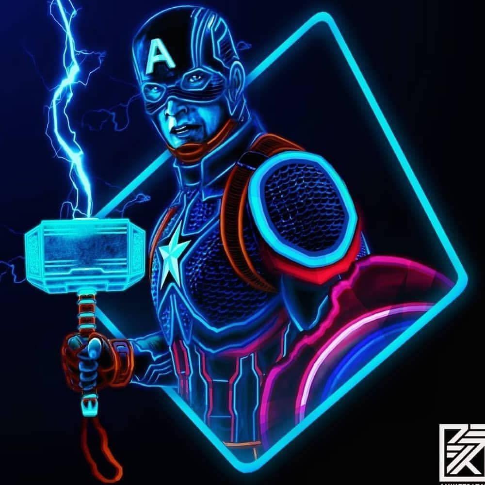 Captain America Neon Wallpapers Top Free Captain America Neon Backgrounds Wallpaperaccess