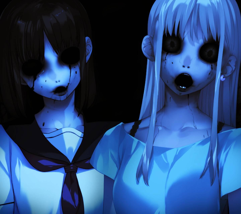 1440x1280 Horror Anime Girl hình nền