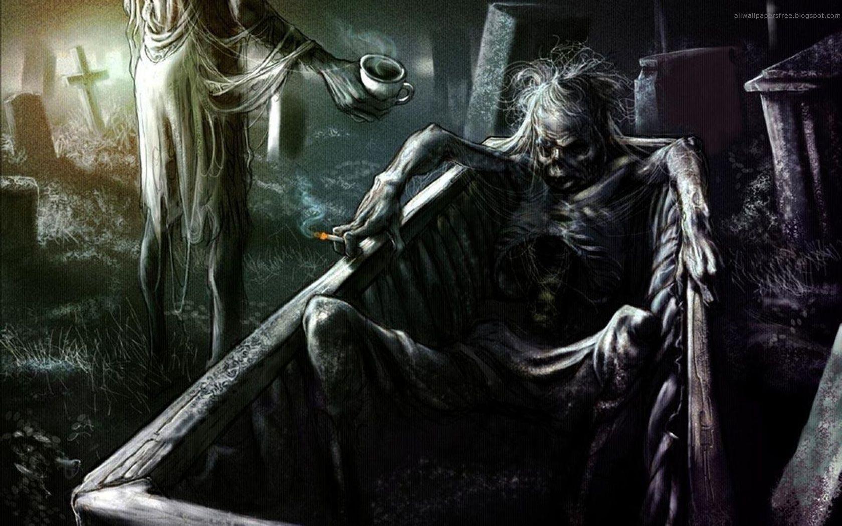 Hình nền nghệ thuật kinh dị & đen tối 1680x1050