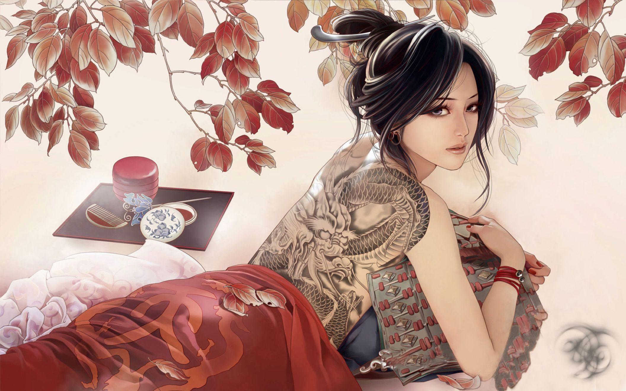 Anime Girl Tattoo Wallpapers Top Free Anime Girl Tattoo