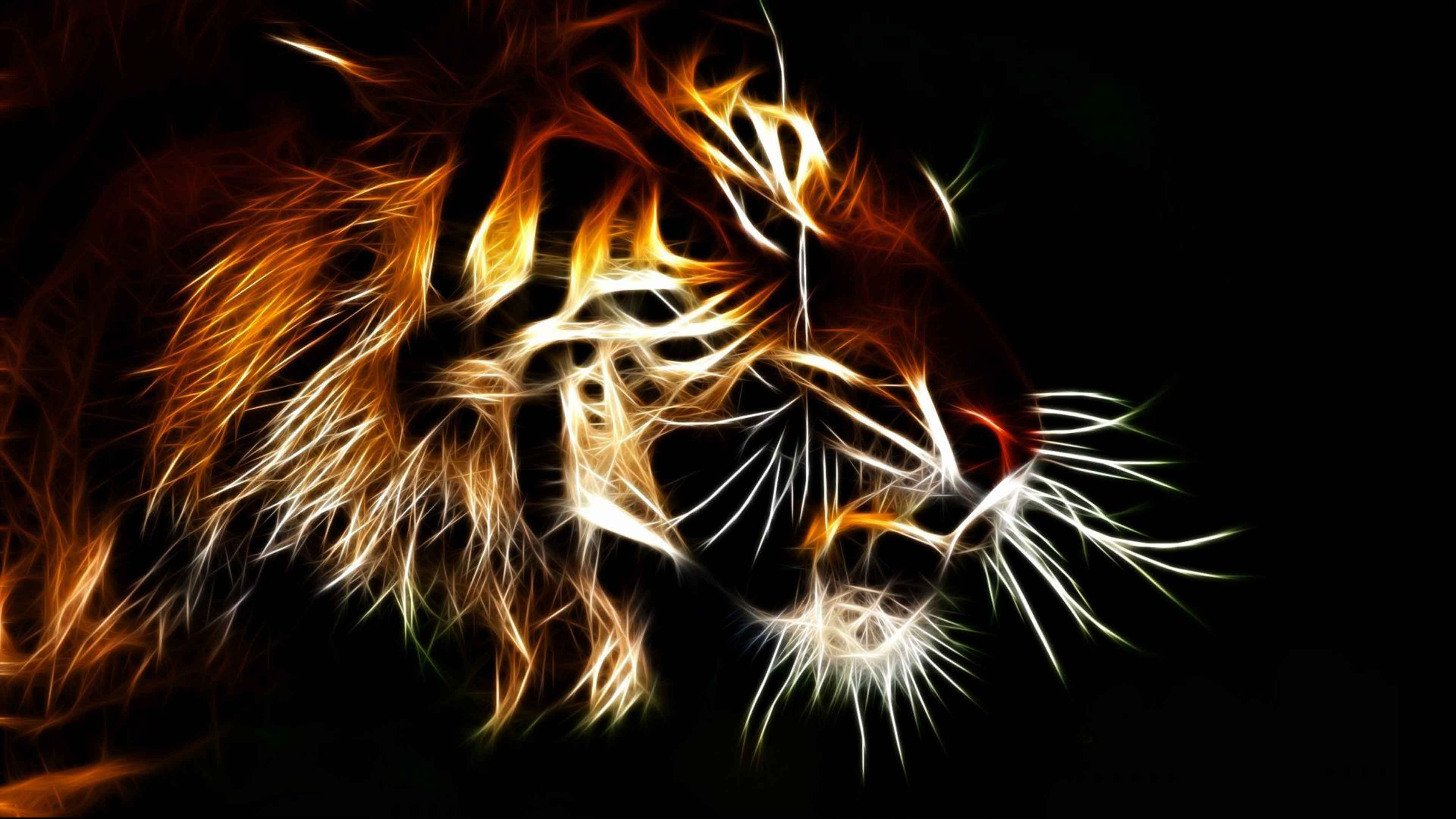 Abstract Tiger Hd Wallpapers Top Free Abstract Tiger Hd Backgrounds Wallpaperaccess