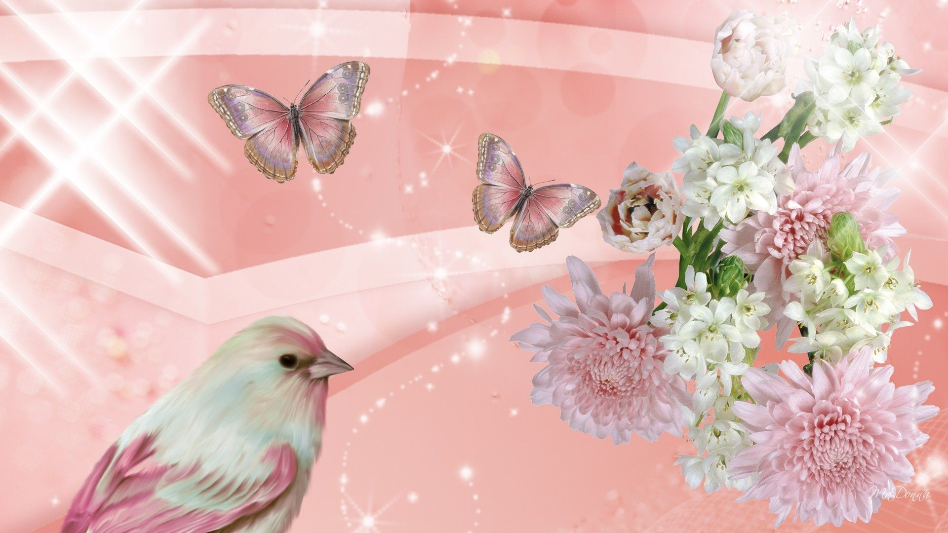 Pastel Flowers Butterflies Wallpapers Top Free Pastel Flowers