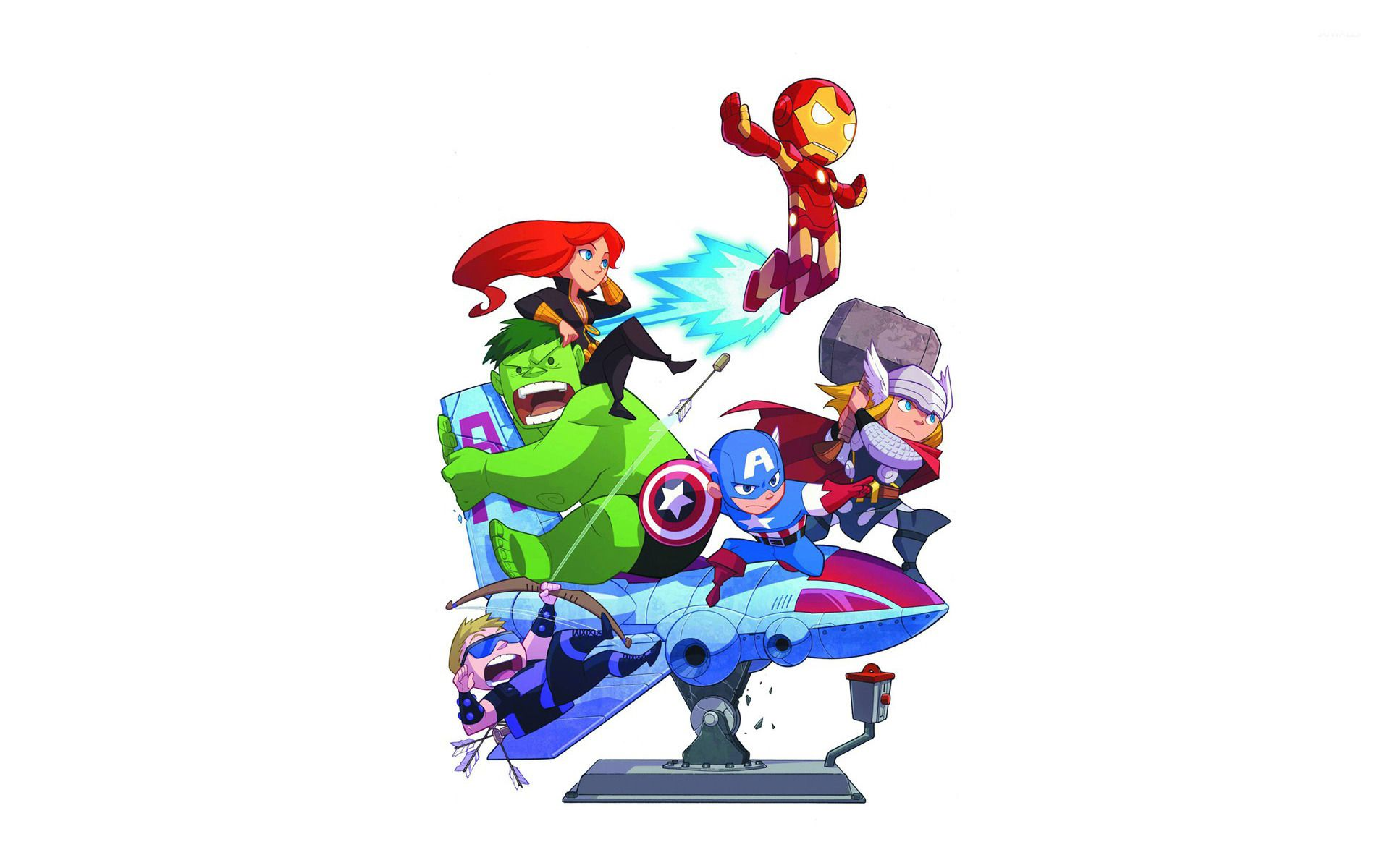 Avengers Cartoon Wallpapers Top Free Avengers Cartoon Backgrounds Wallpaperaccess