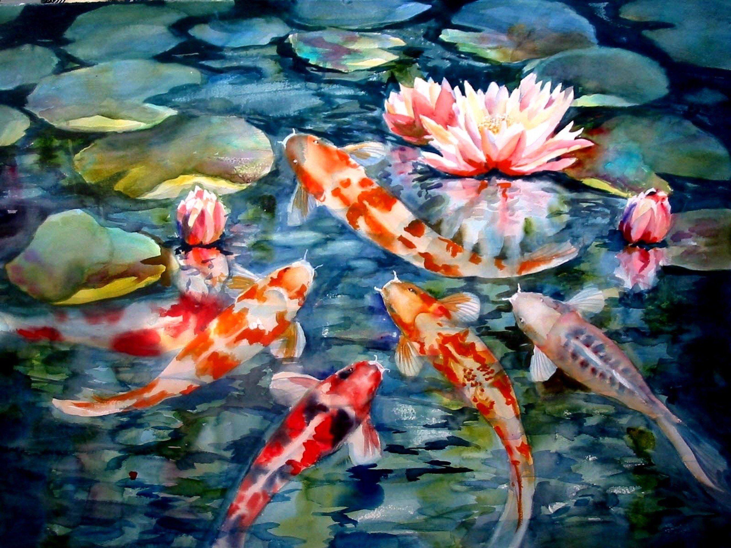 Koi Fish Art Wallpapers - Top Free Koi Fish Art ...