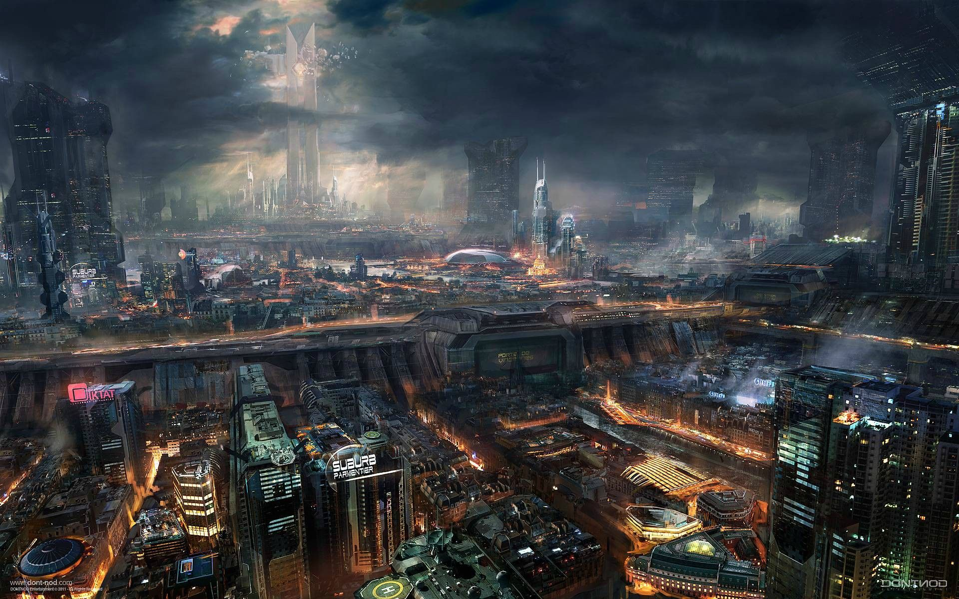 Future City Wallpapers Top Free Future City Backgrounds Wallpaperaccess
