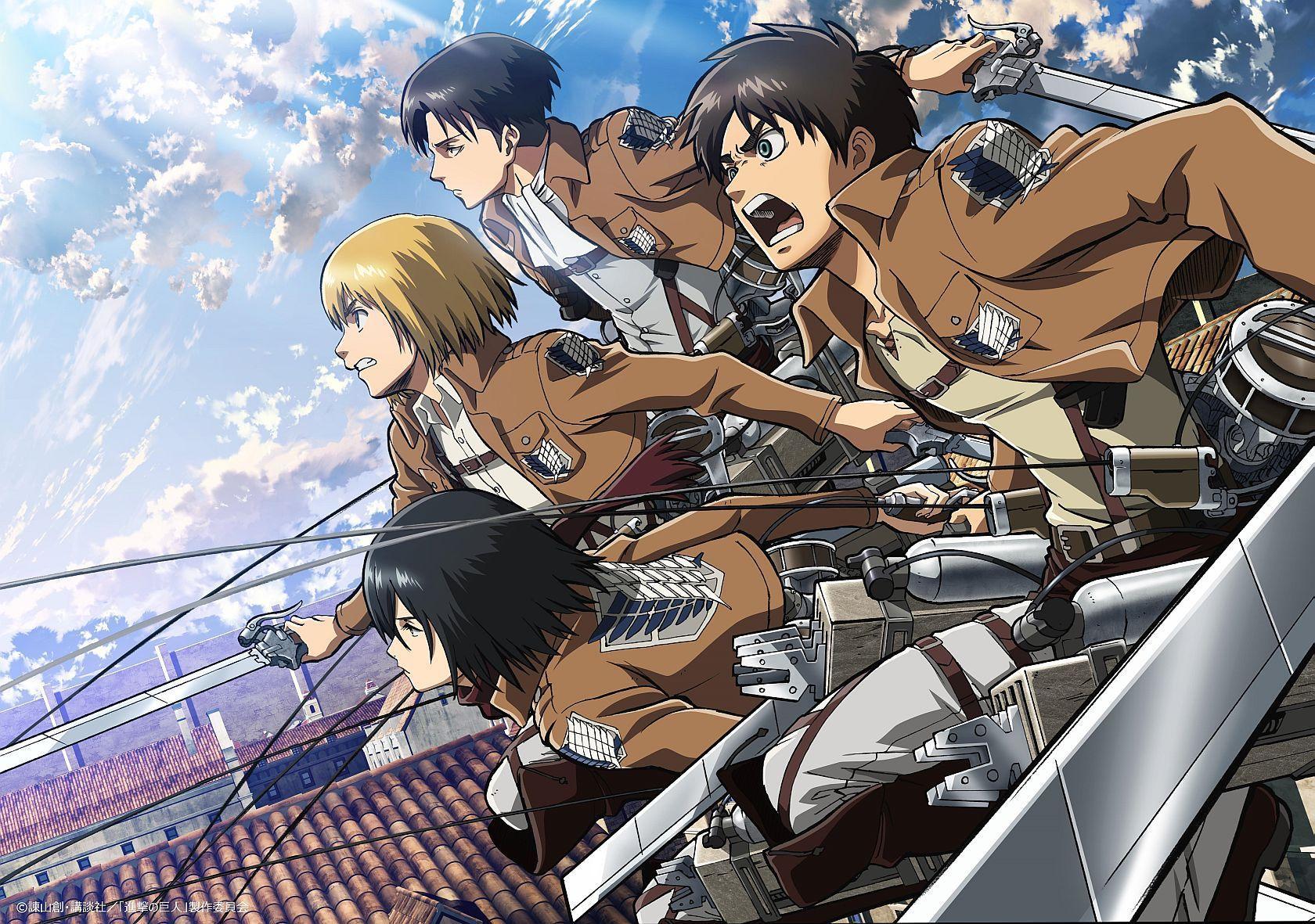 Attack On Titan Eren And Mikasa Wallpapers Top Free Attack On Titan Eren And Mikasa Backgrounds Wallpaperaccess