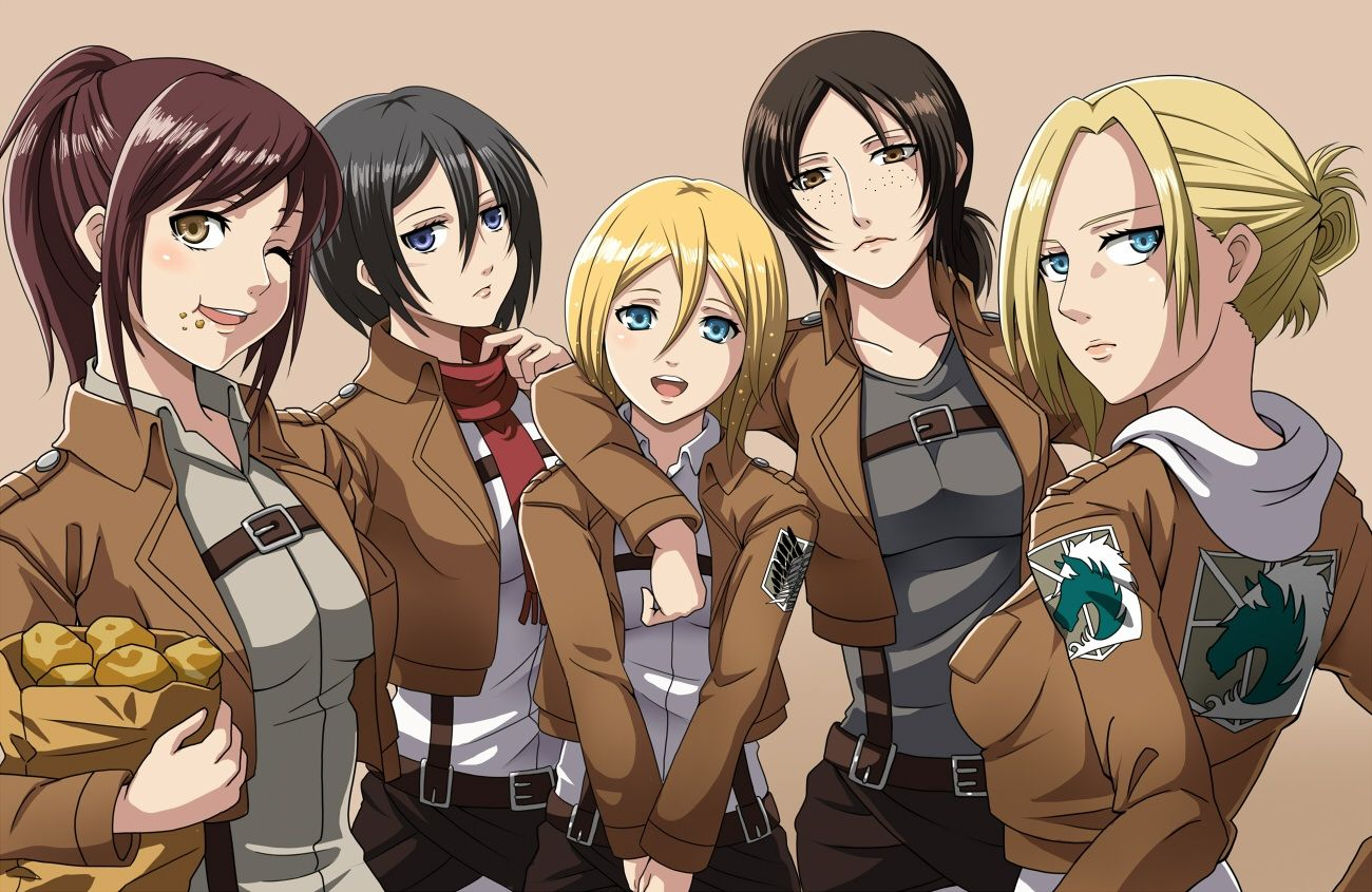 Attack On Titan Characters Wallpapers Top Free Attack On Titan Characters Backgrounds Wallpaperaccess