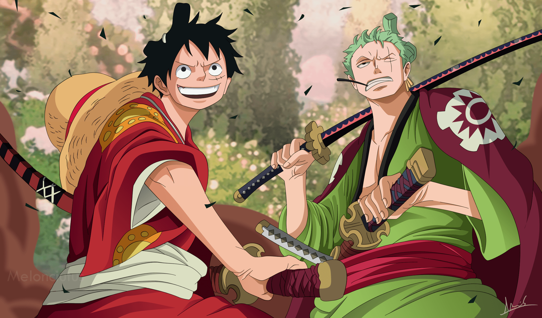 Zoro And Luffy Wallpapers Top Free Zoro And Luffy Backgrounds Wallpaperaccess