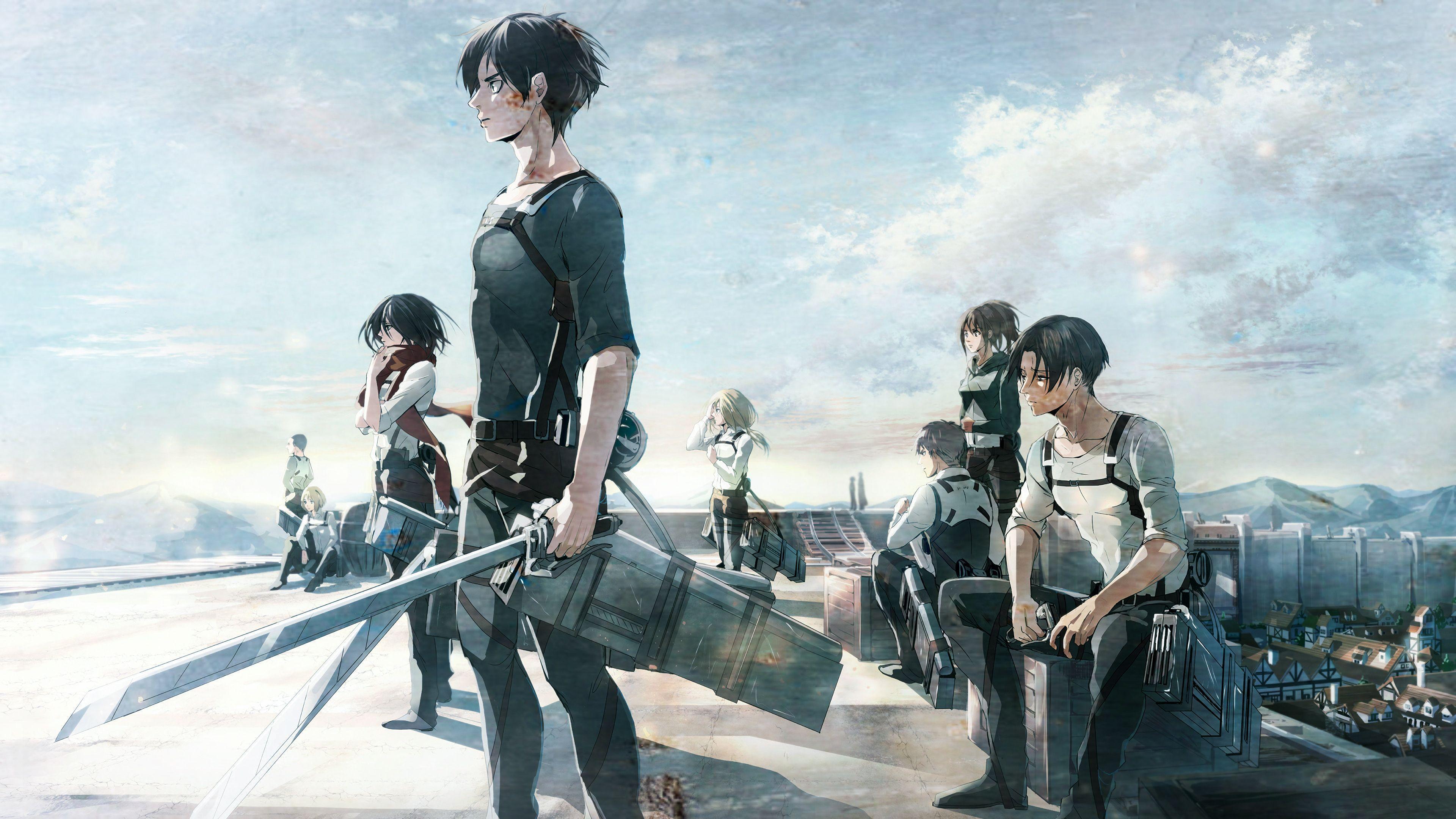 3840x2160 Attack on Titan Season 3 background 21. Games wallpaper HD